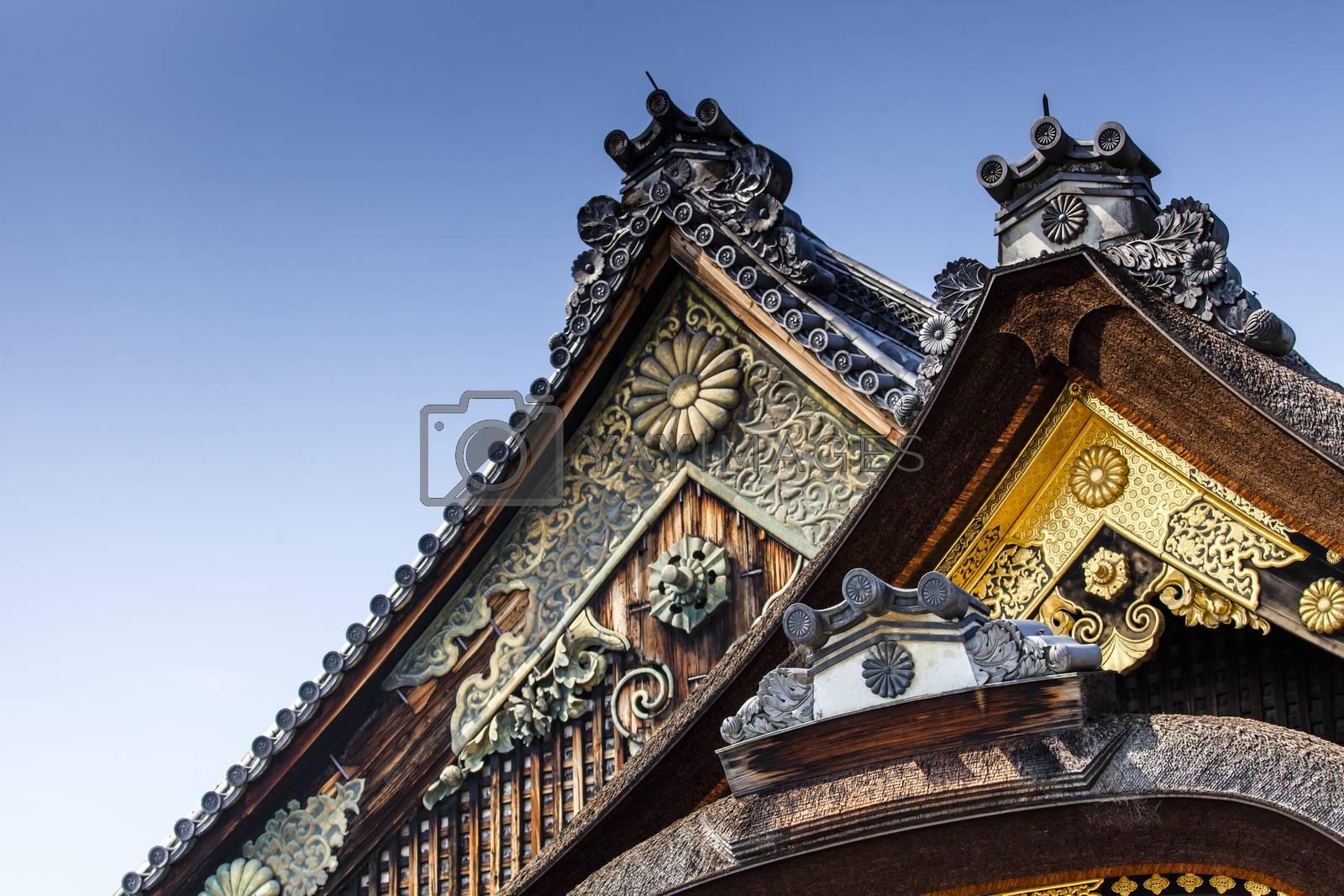 The Nijo-jo Castle in Kyoto, Japan.