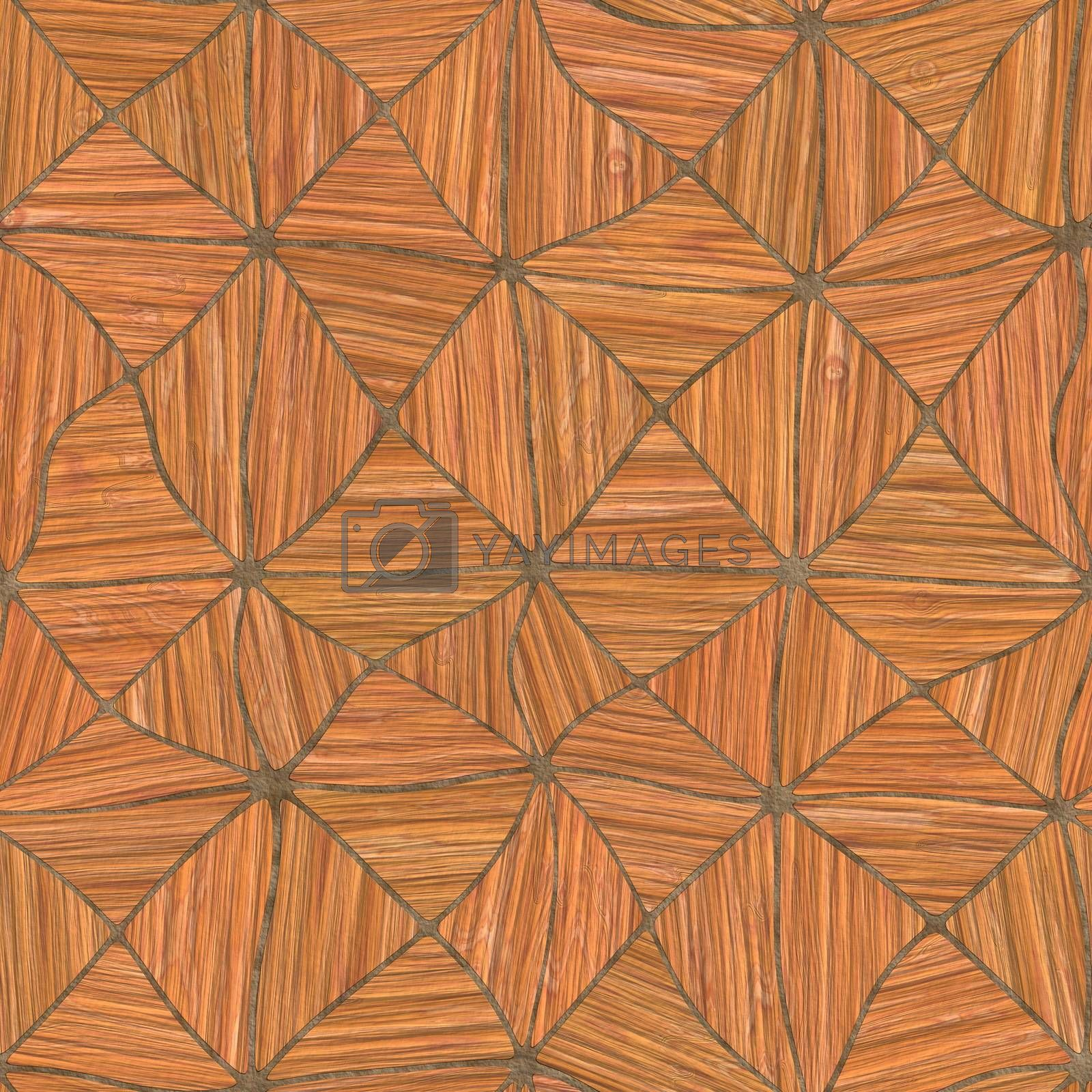 Irregular abstract seamless tileable wood background parquet pattern.