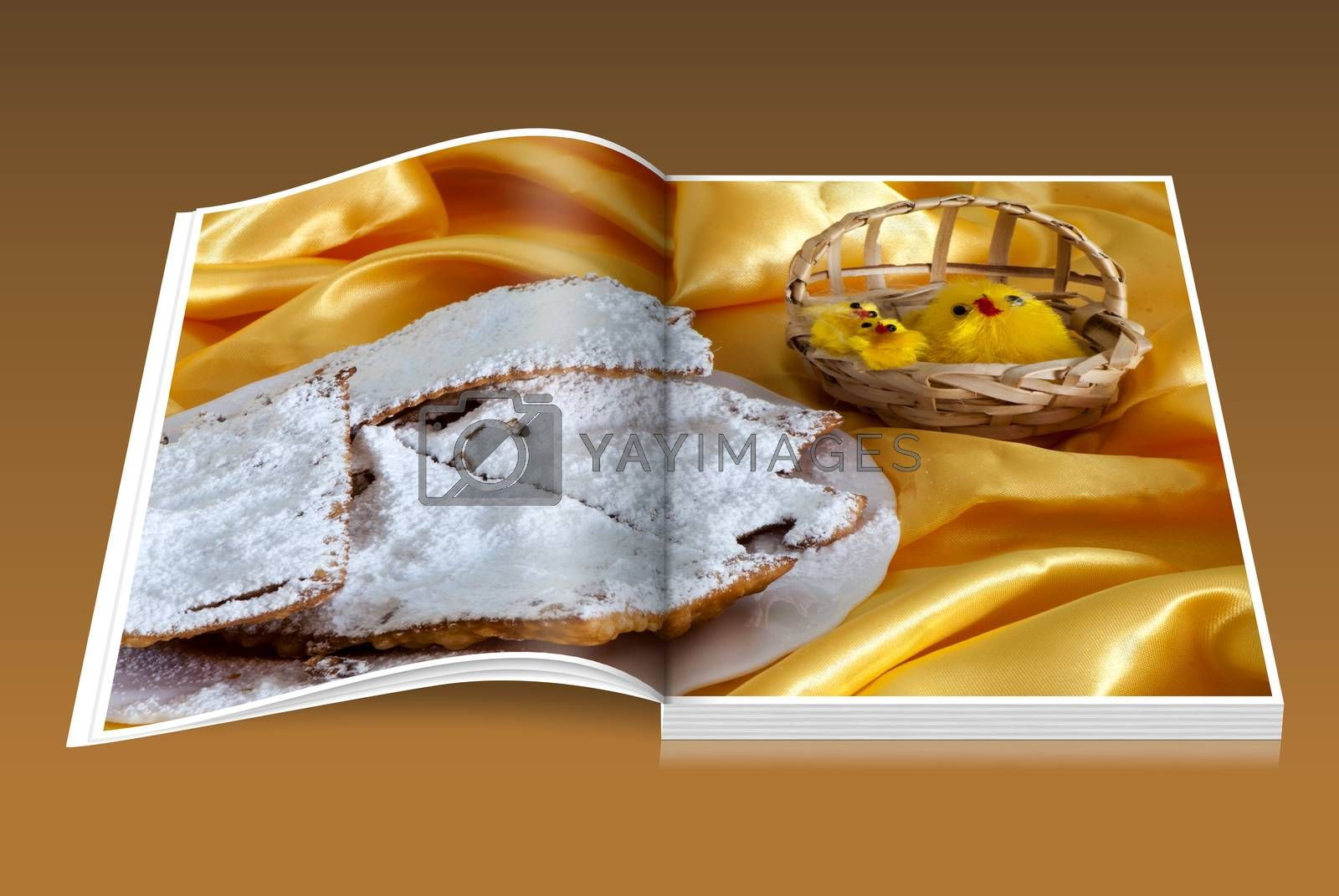 book of Italian fried sweets for Carnival and Easter