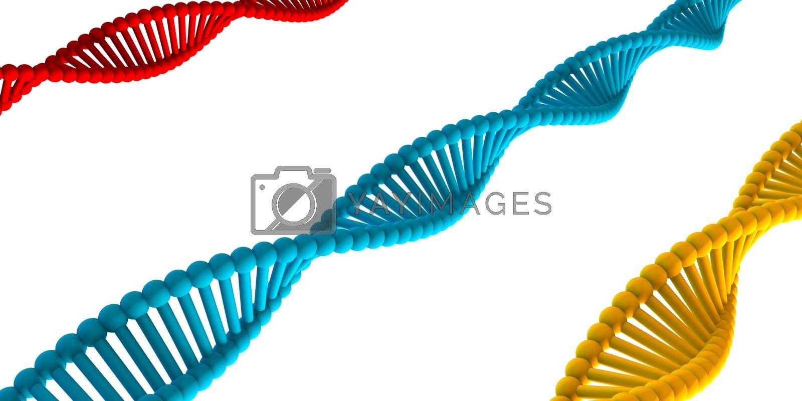Science Technology Background with Double Helix Strand
