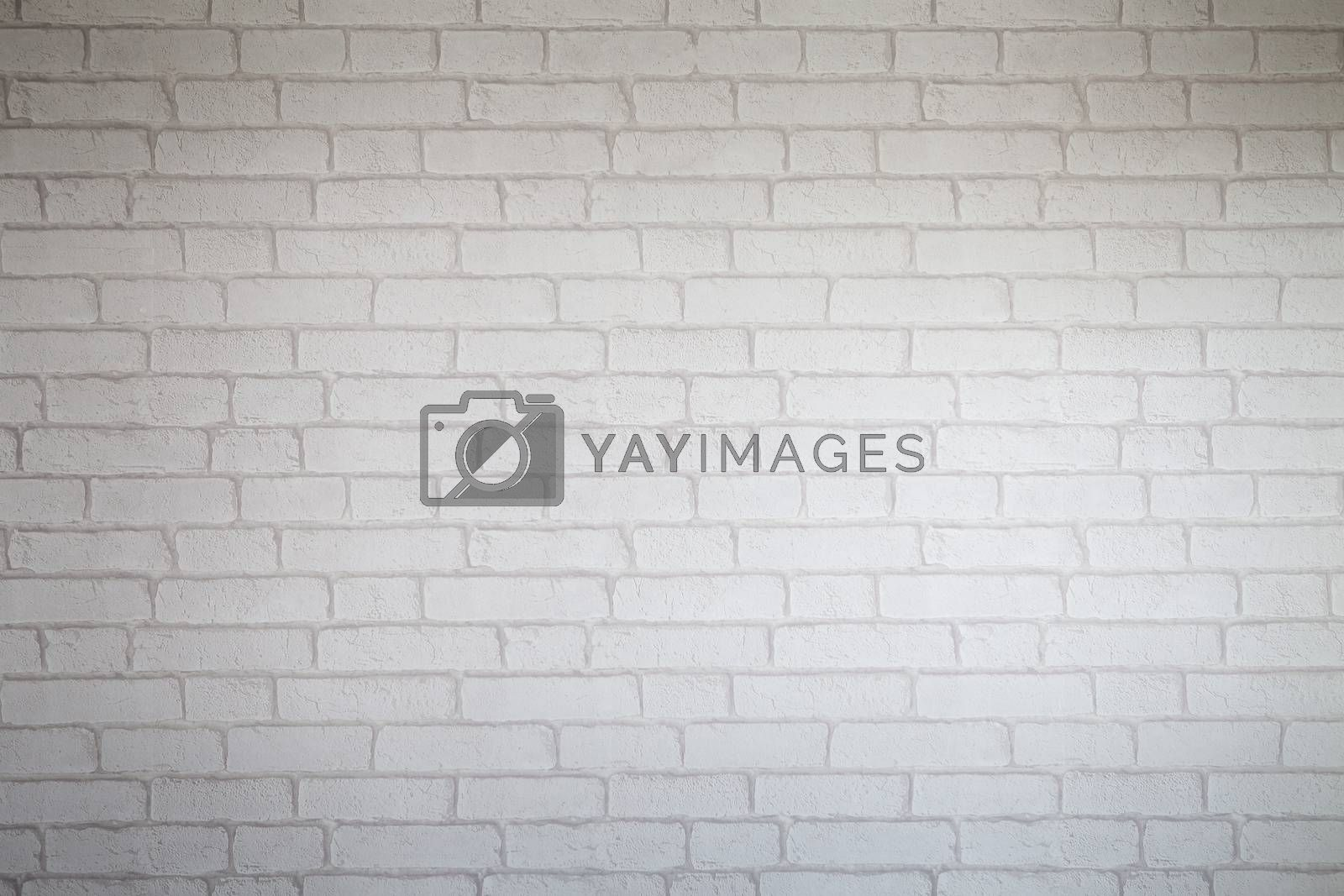Texture pattern White brick wall as background