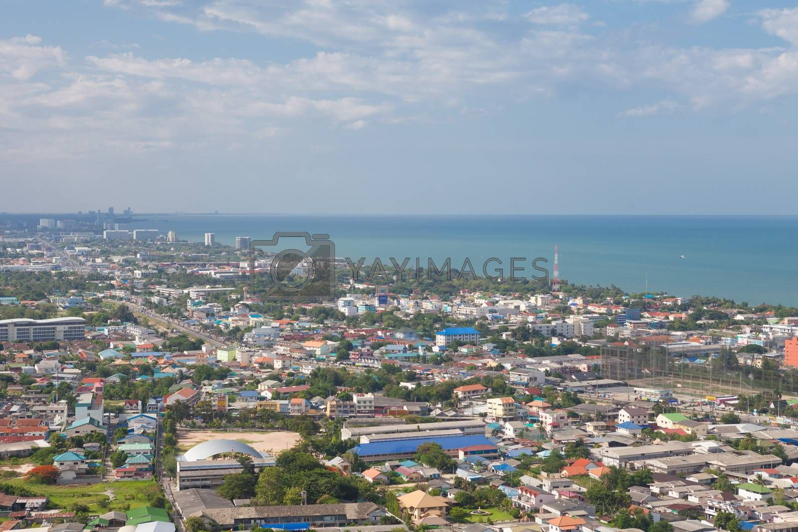 Hua Hin City,Thailand,View from the top.