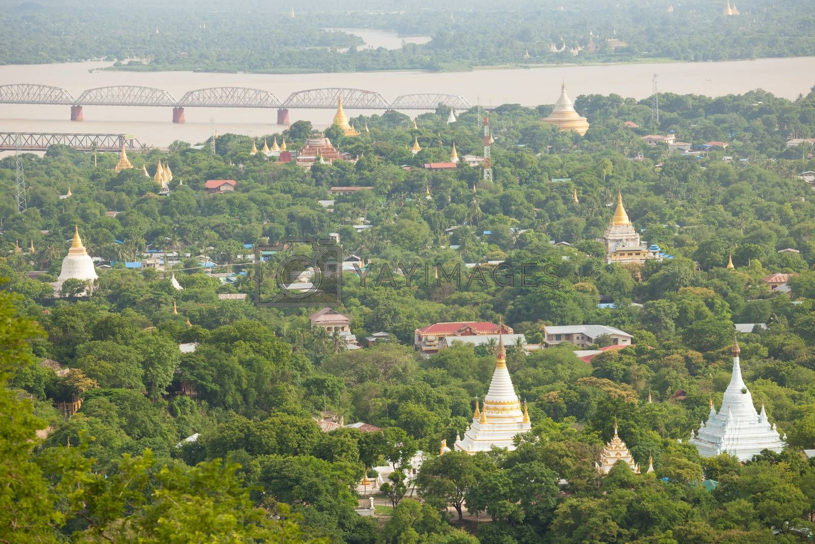 Ancient pagodas in Mandalay city, Myanmar