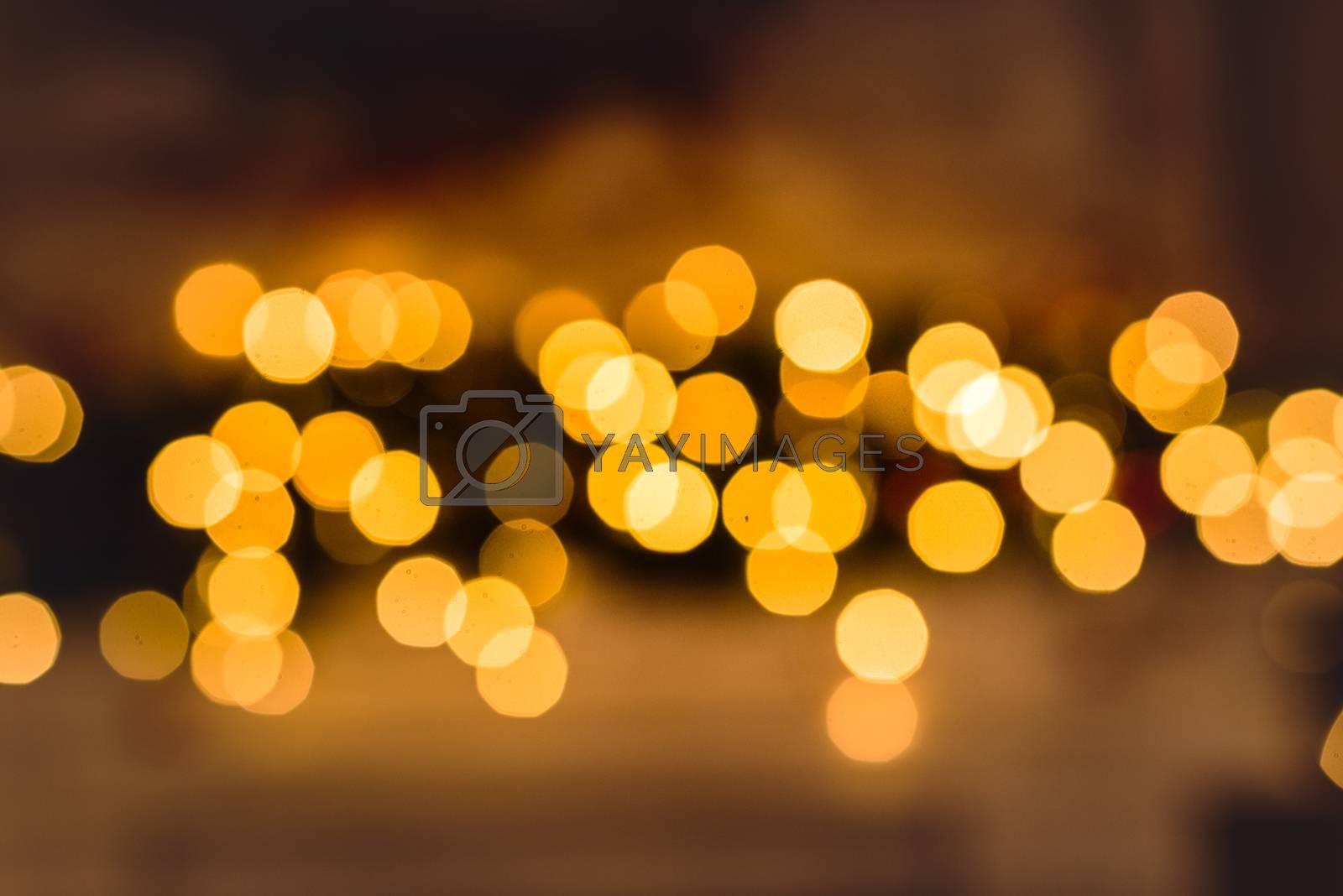 Festive abstract bokeh christmas background