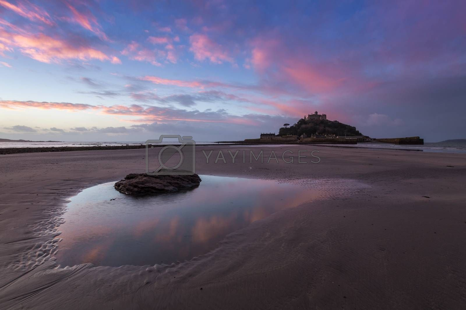 Royalty free image of Beach in Front of St Michael's Mount by margaret_clavell