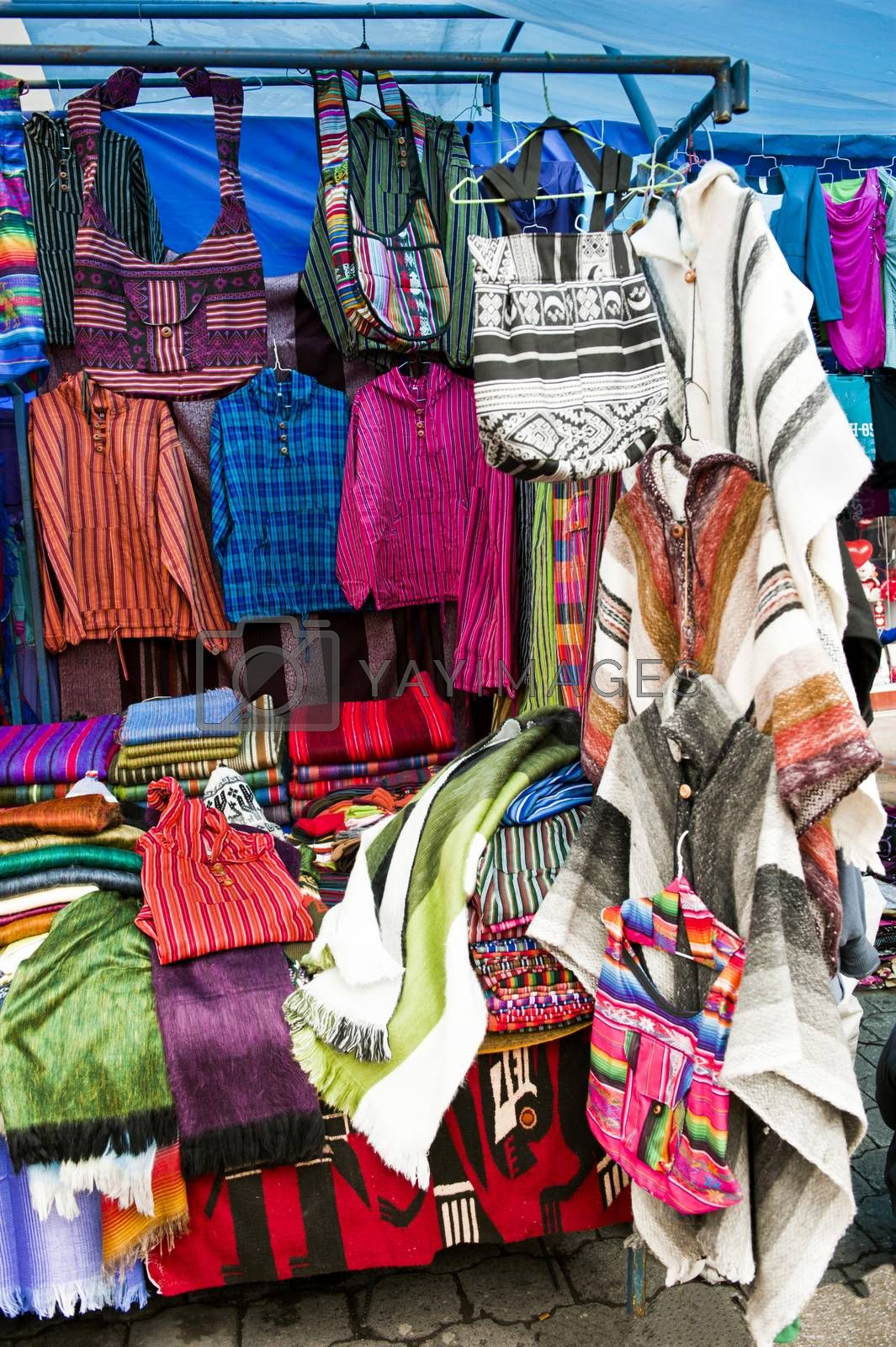 the beautiful and colorful indigenous market of Otavalo