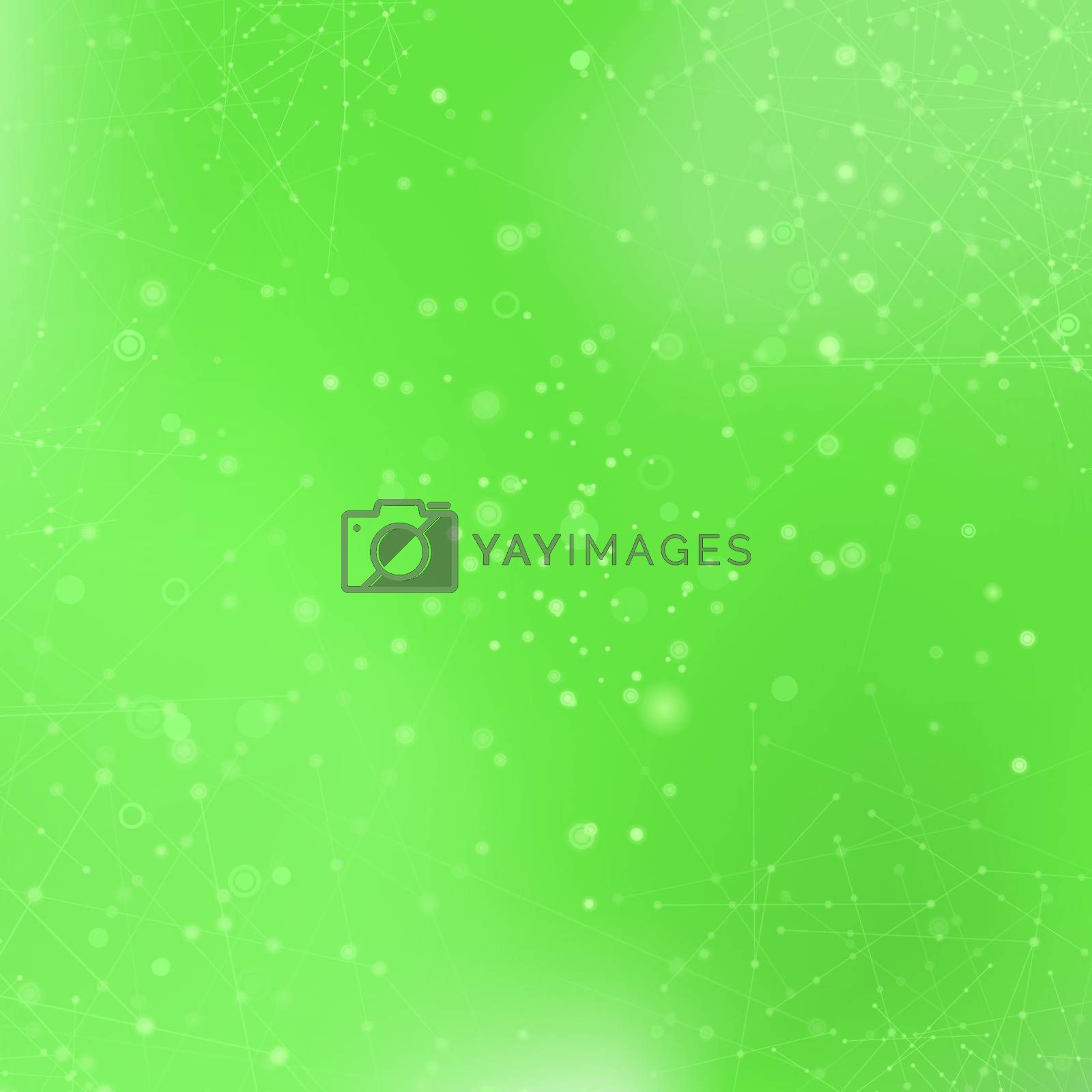 Green Technology Background with Particle by valeo5