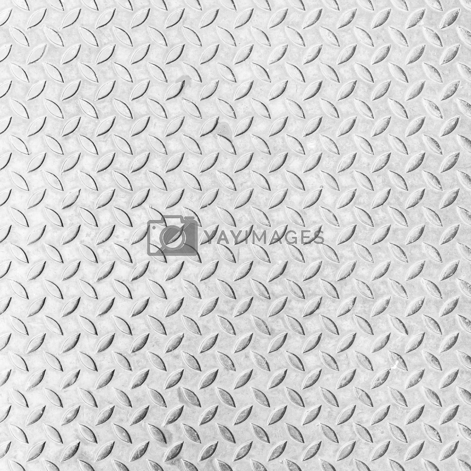 White background texture of grunged metal pattern