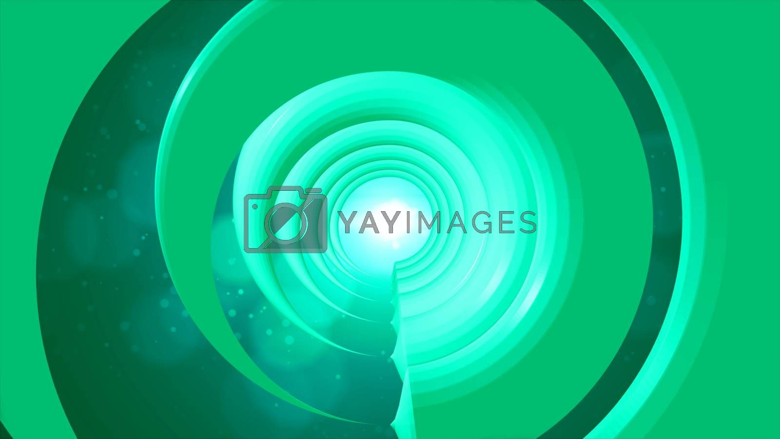 3d rendering Futuristic tunnel with light. 8K Ultra HD Resolution