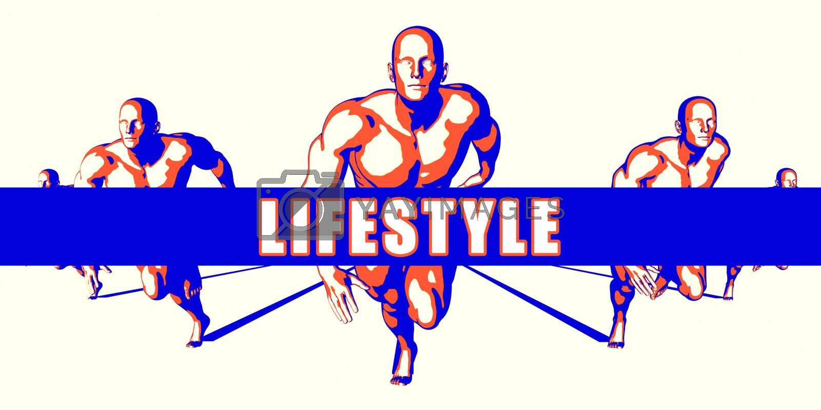 Lifestyle as a Competition Concept Illustration Art