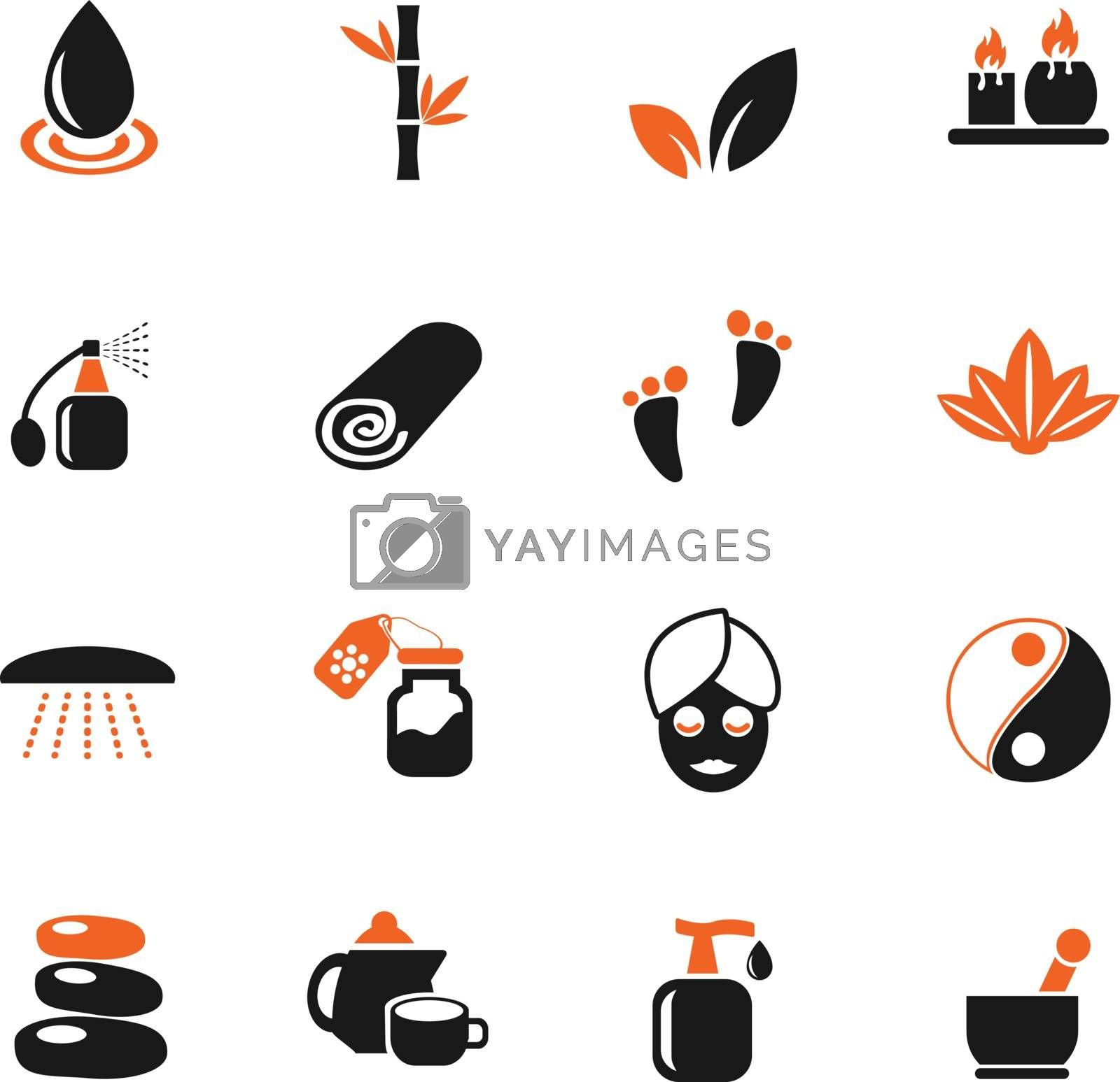 beauty and spa icon set by ayax