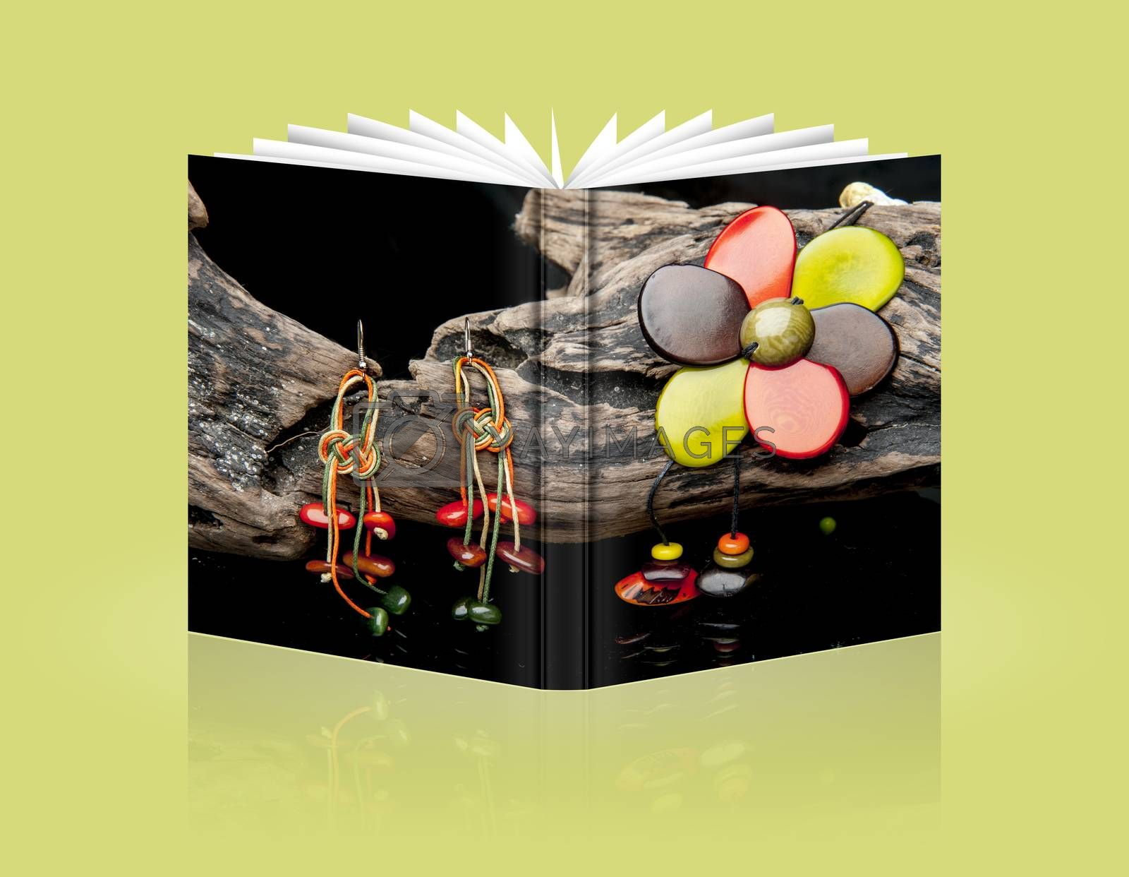 book of handcrafted jewelry handmade in Ecuador with tagua