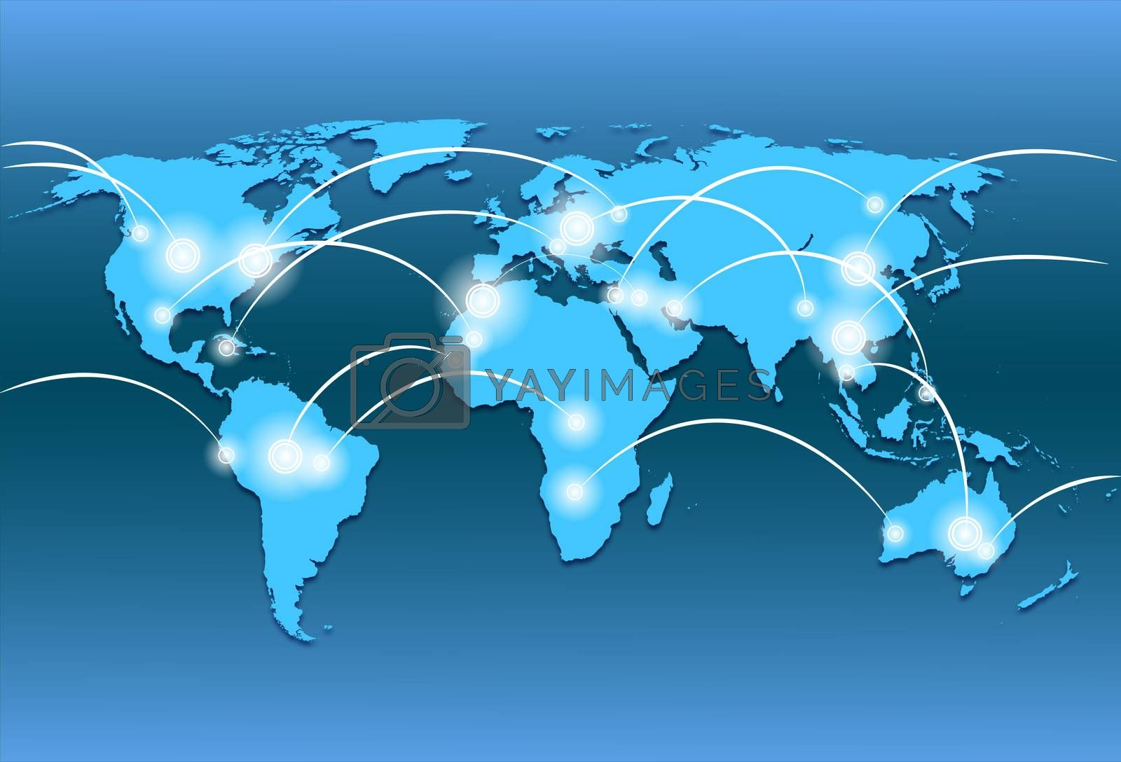 Royalty free image of world map and world wide web by mizar_21984