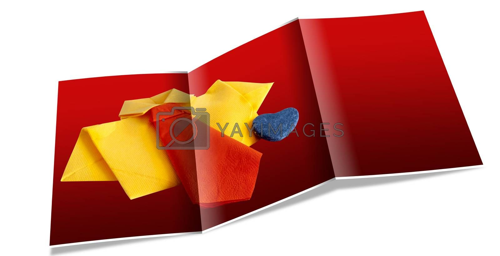 Royalty free image of brochure of card for a  Father's Day by carla720