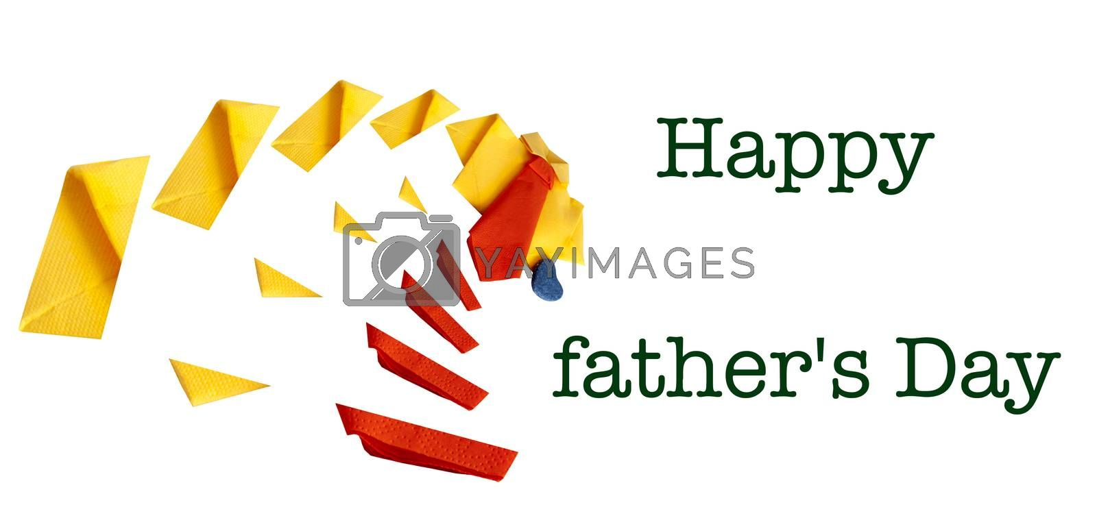 brochure of a handmade card for a  Father's Day