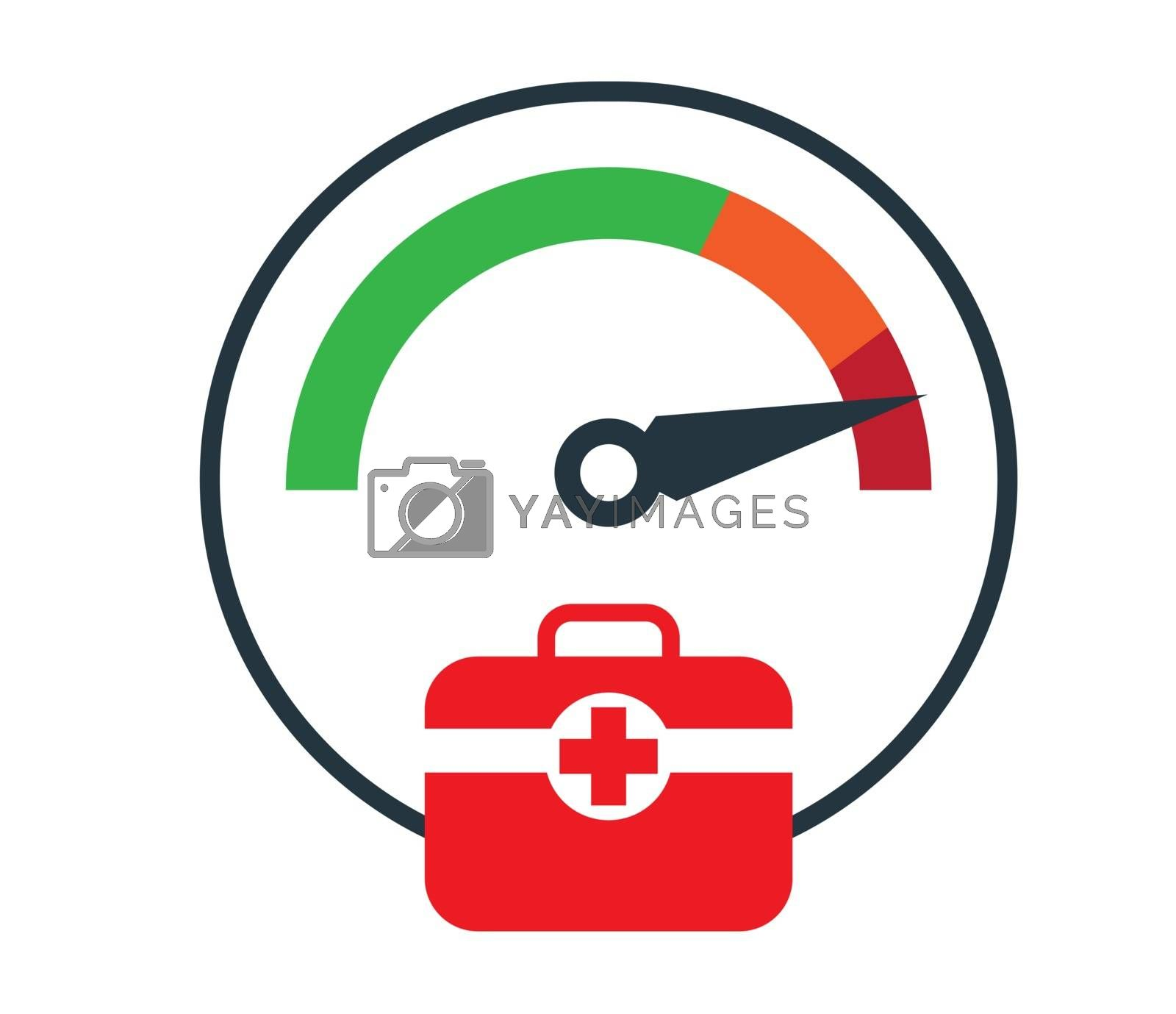 First Aid with Doctor Bag Icon Design