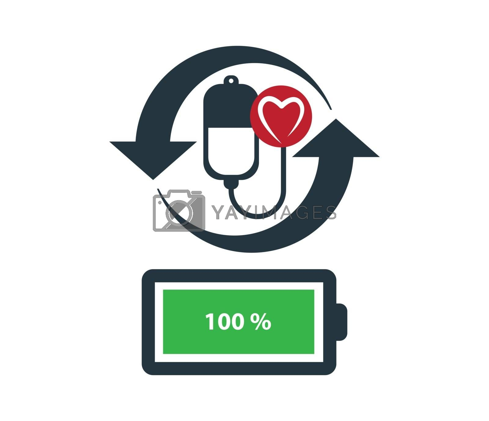 Concept Design on Health Icon. Eps 8 supported.