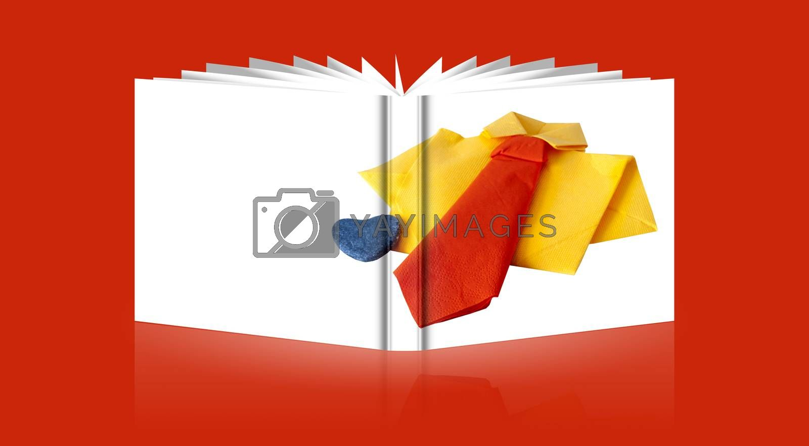 Royalty free image of book of card for a  Father's Day by carla720