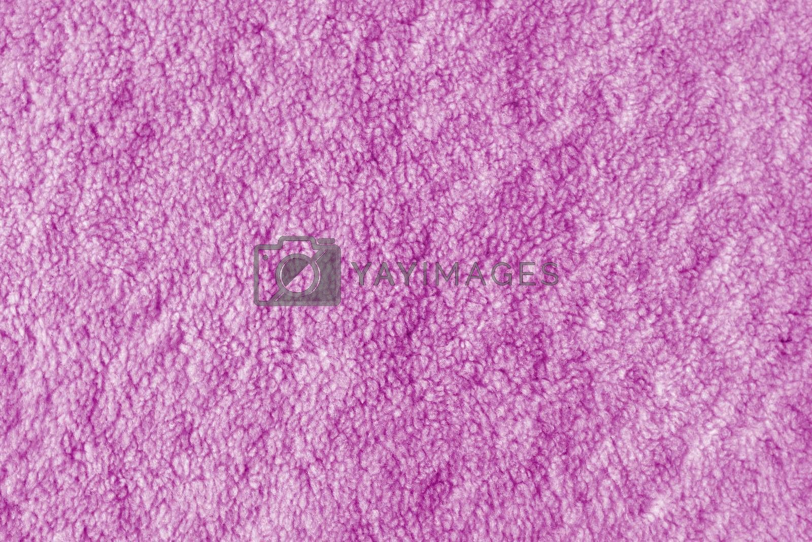 Pink towel texture, soft cloth material surface as background
