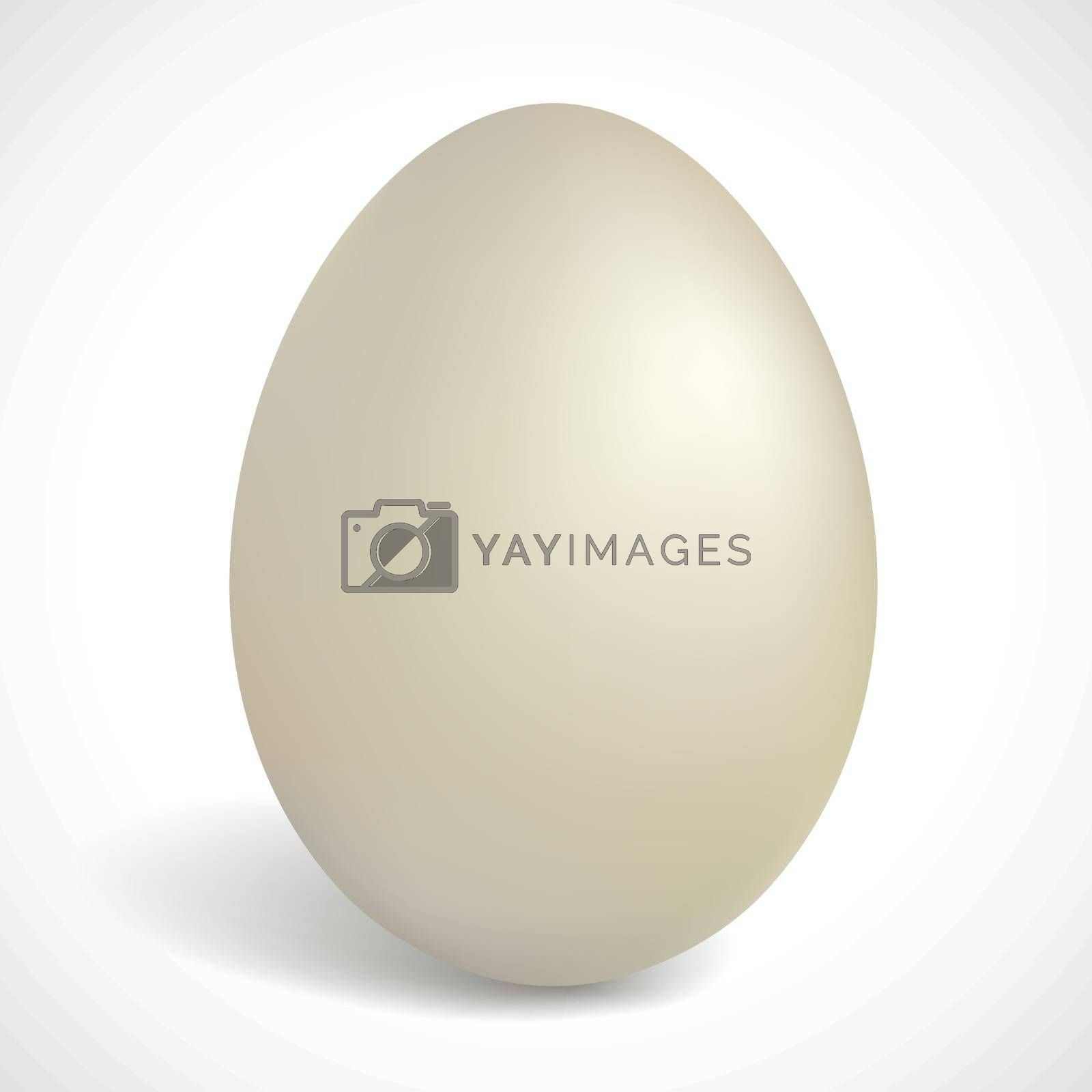 Chocolate egg isolated on white background. Happy Easter concept design. White chocolate.