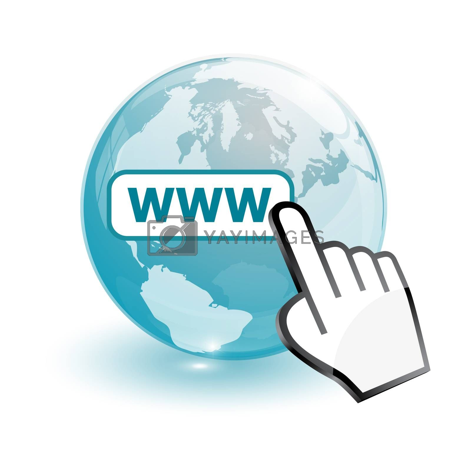 Royalty free image of world map and world wide web searching by mizar_21984
