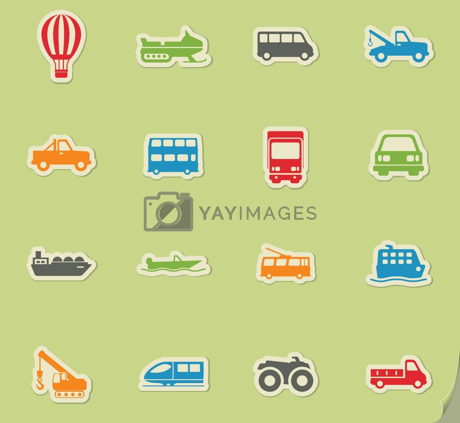 Transportation simply icons by ayax