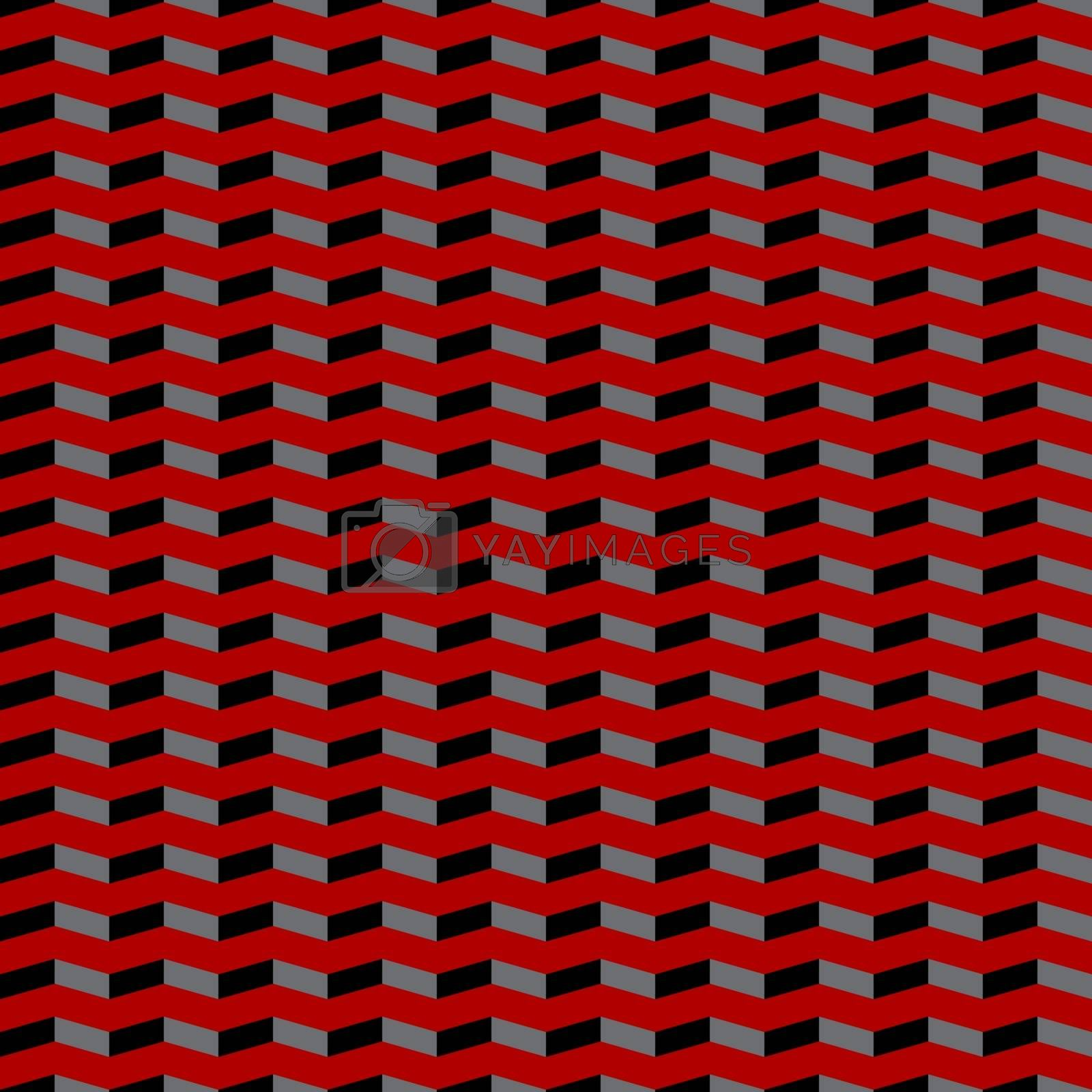 Illustration of a concept of red and black background