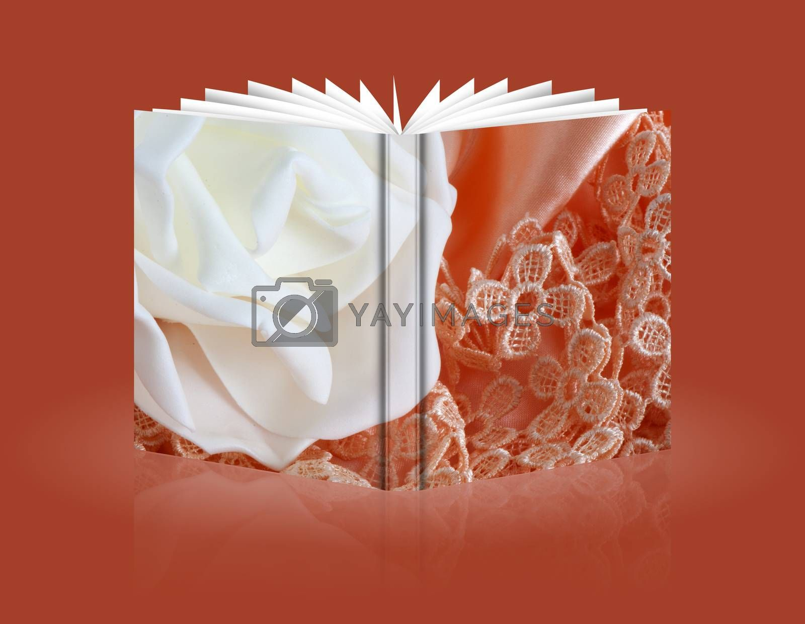 Royalty free image of book of Wedding favors by carla720