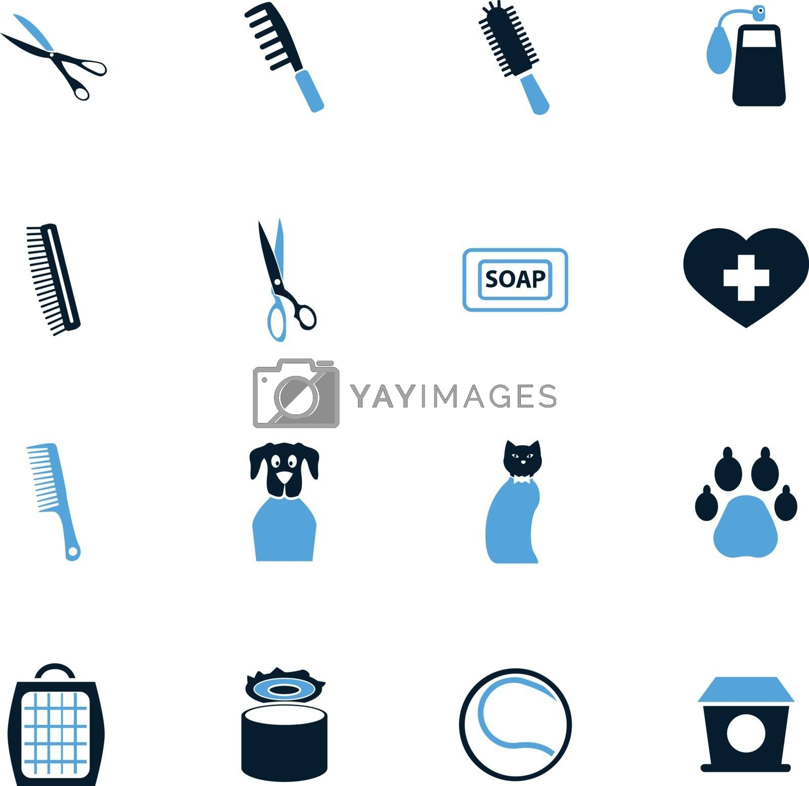 Goods for pets icons set by ayax