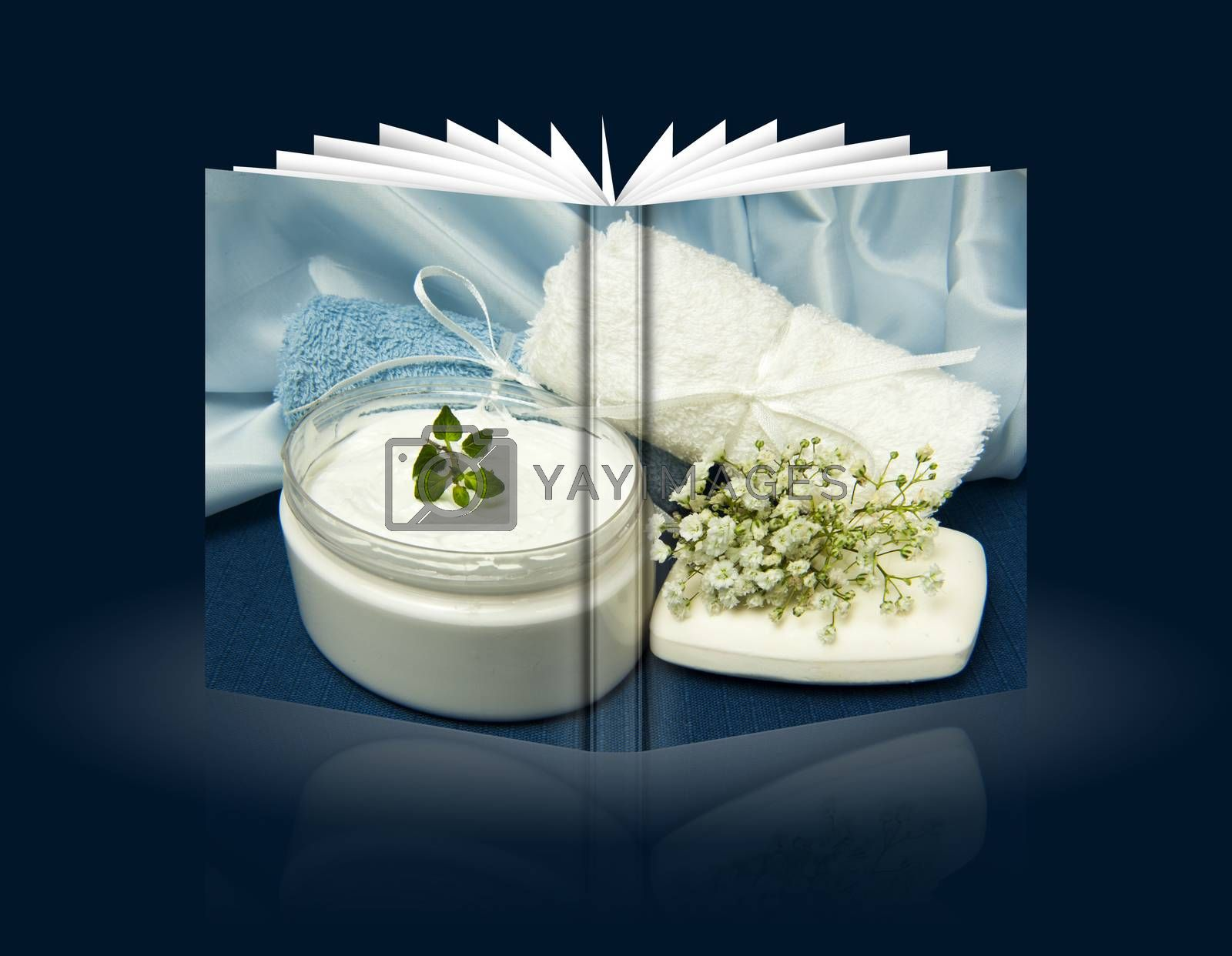 Royalty free image of book of Biological home made product by carla720