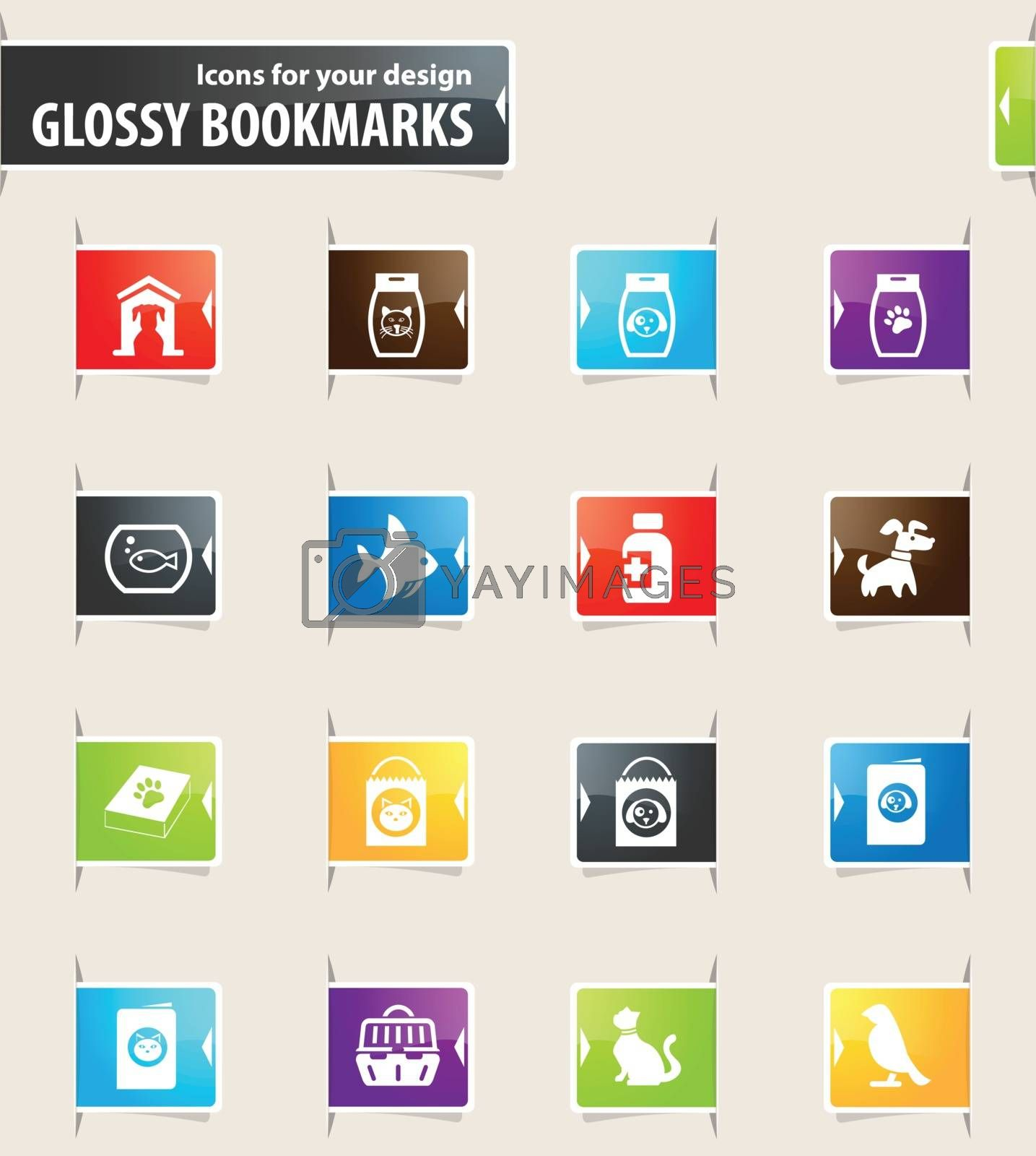 Goods for Pets Bookmark Icons by ayax