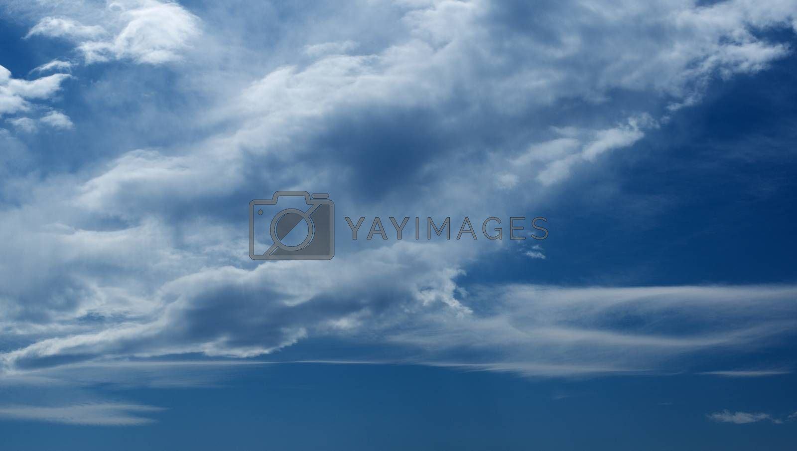 Dramatic Ominous Cloudy Sky with Cumulus Clouds Outdoors