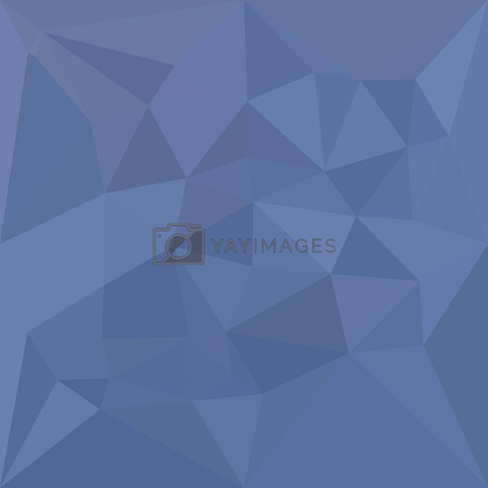 Low polygon style illustration of a cornflower blue abstract geometric background.