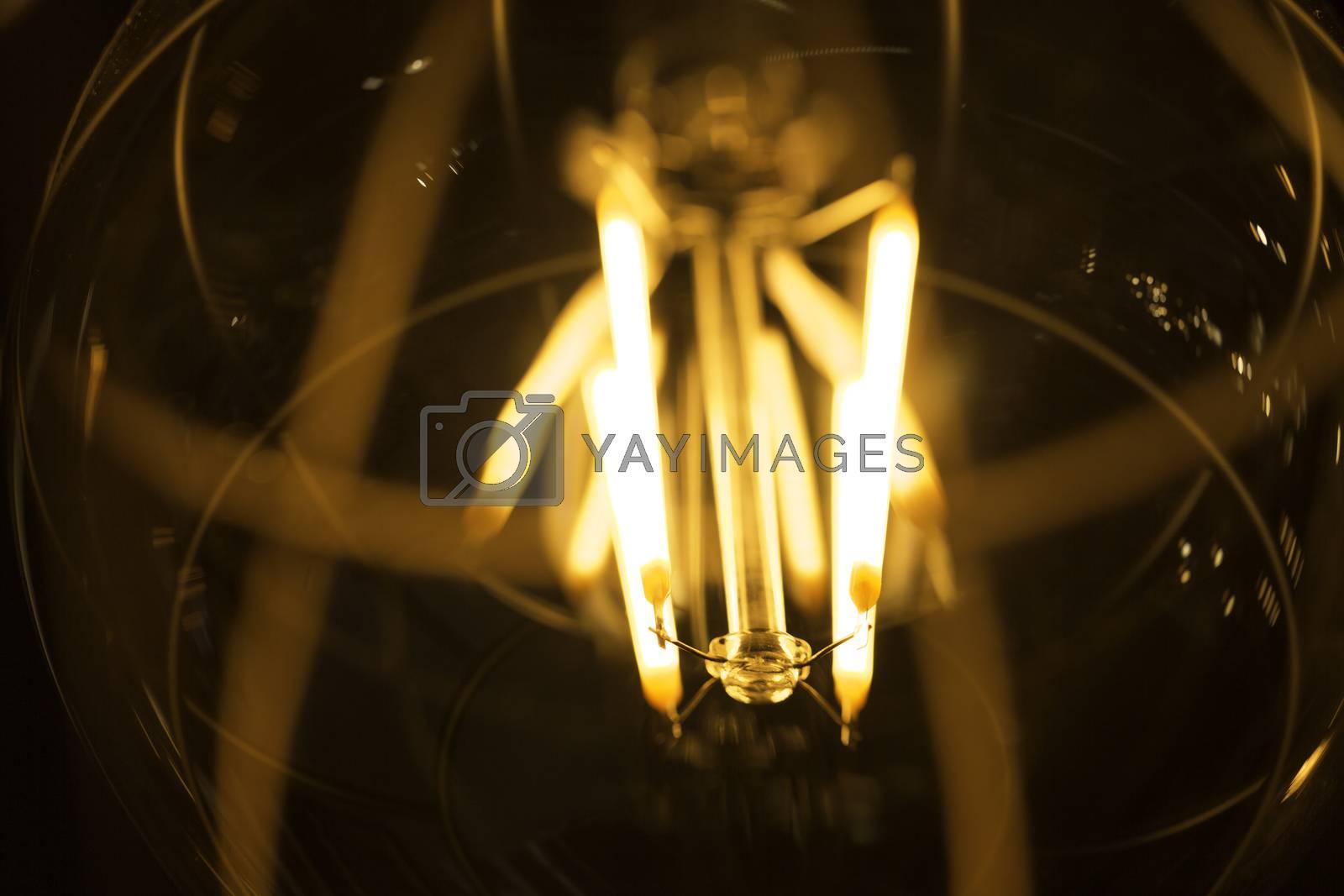 Light Bulb Coil Close Up.