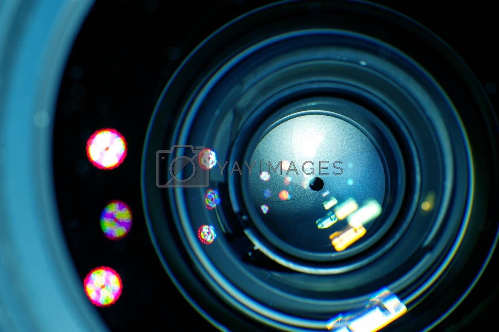 Lens Iris in Macro Photography. Cool Photography Theme.