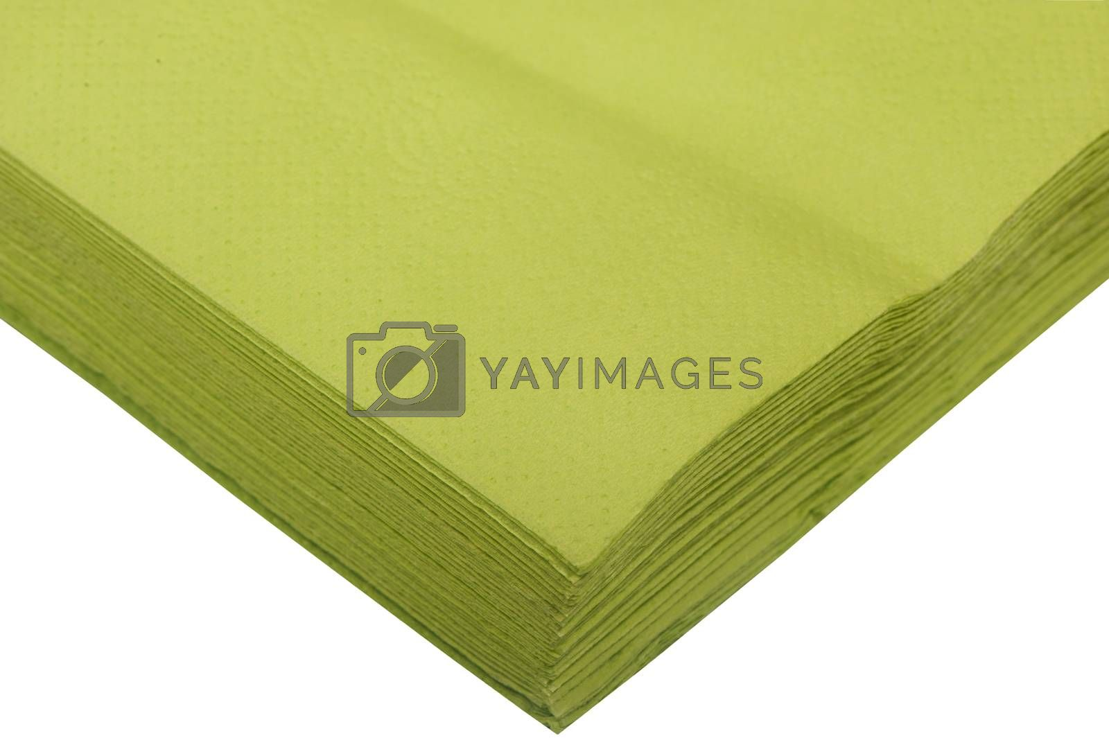 a paper napkins on the white backround