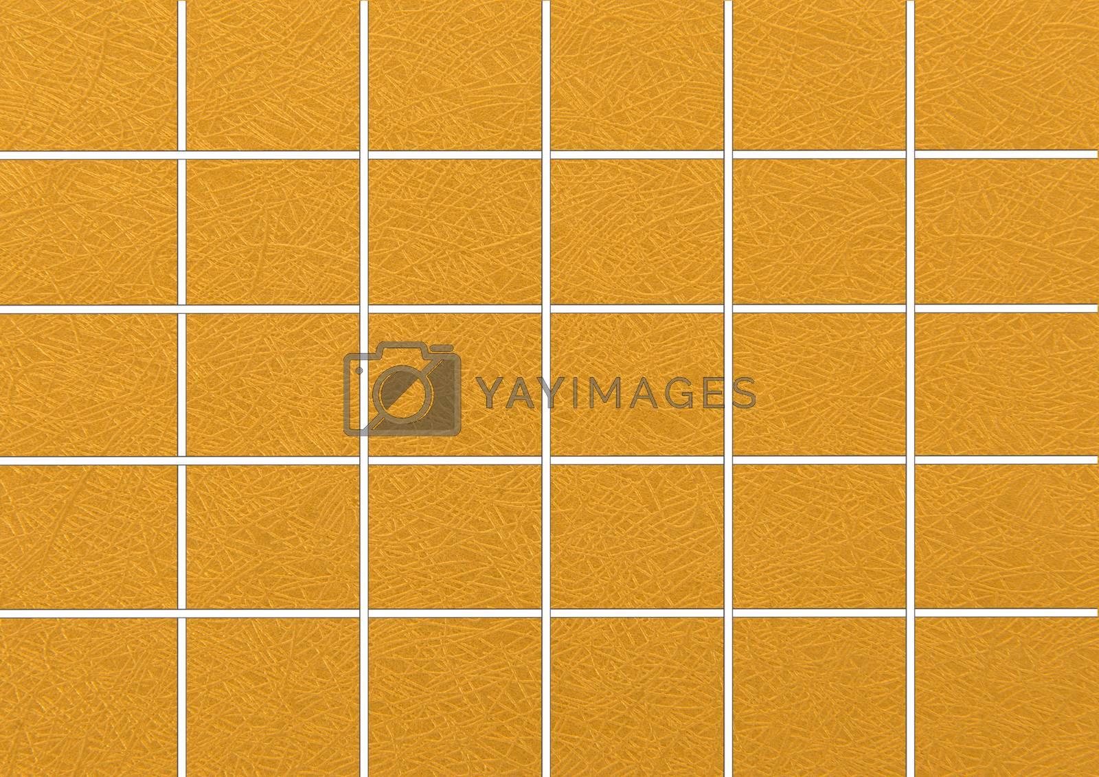 Gold Tiles. Seamless Tileable Texture.
