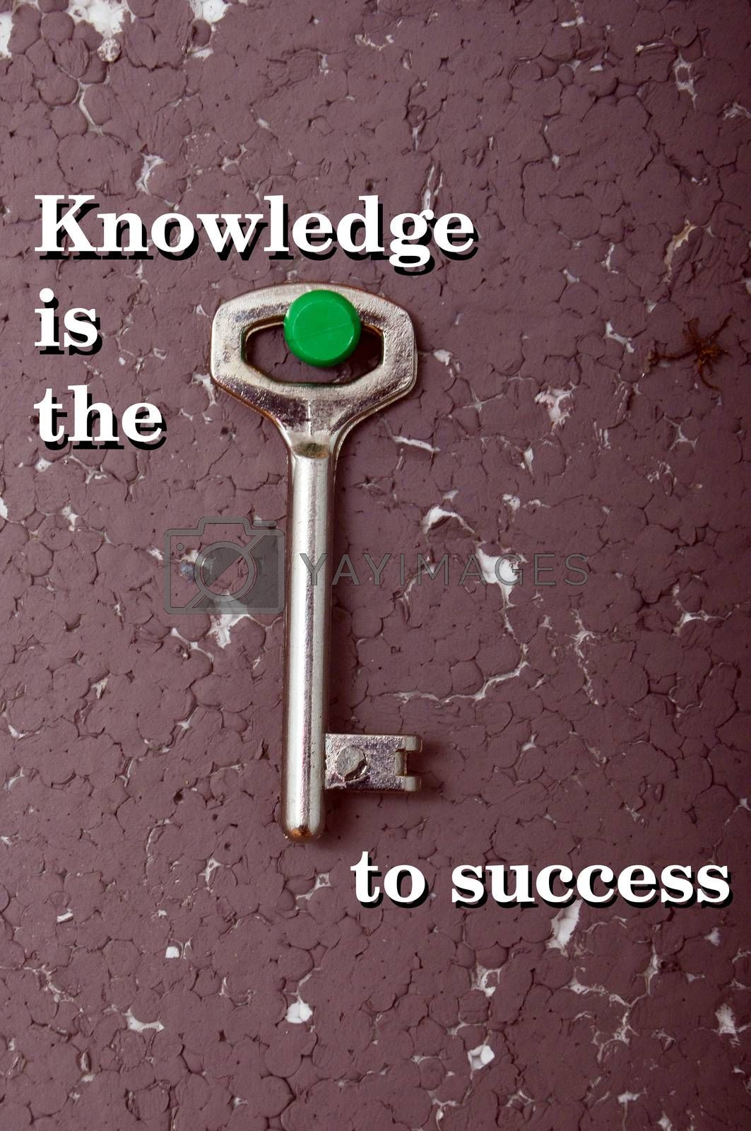 knowledge is key to sucess, key and text