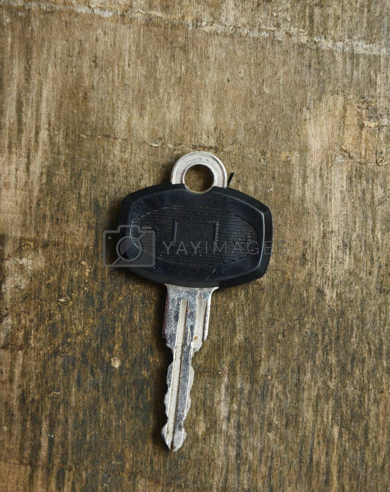 Key on a wood, picture of an old