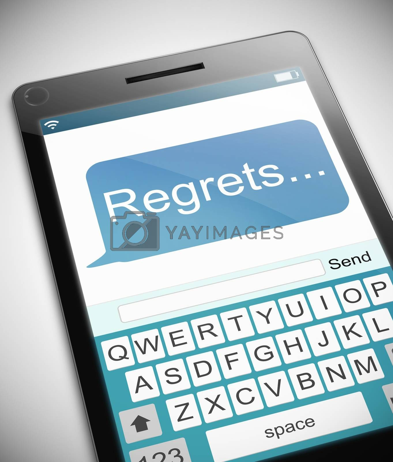 Regrets message concept. by 72soul