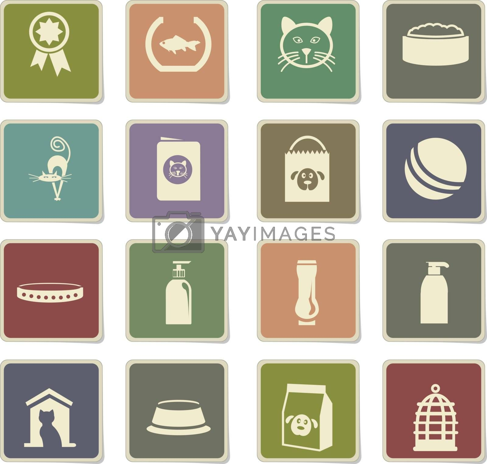 goods for pets icon set by ayax
