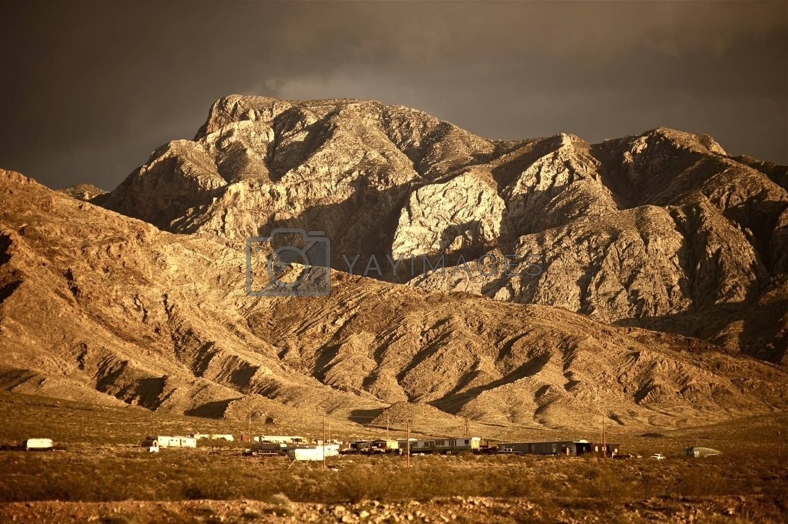 Arizona Landscape - Arizona Mountains and Canyons. Arizona USA. Arizona - Nevada State Border. Some Mobile Homes