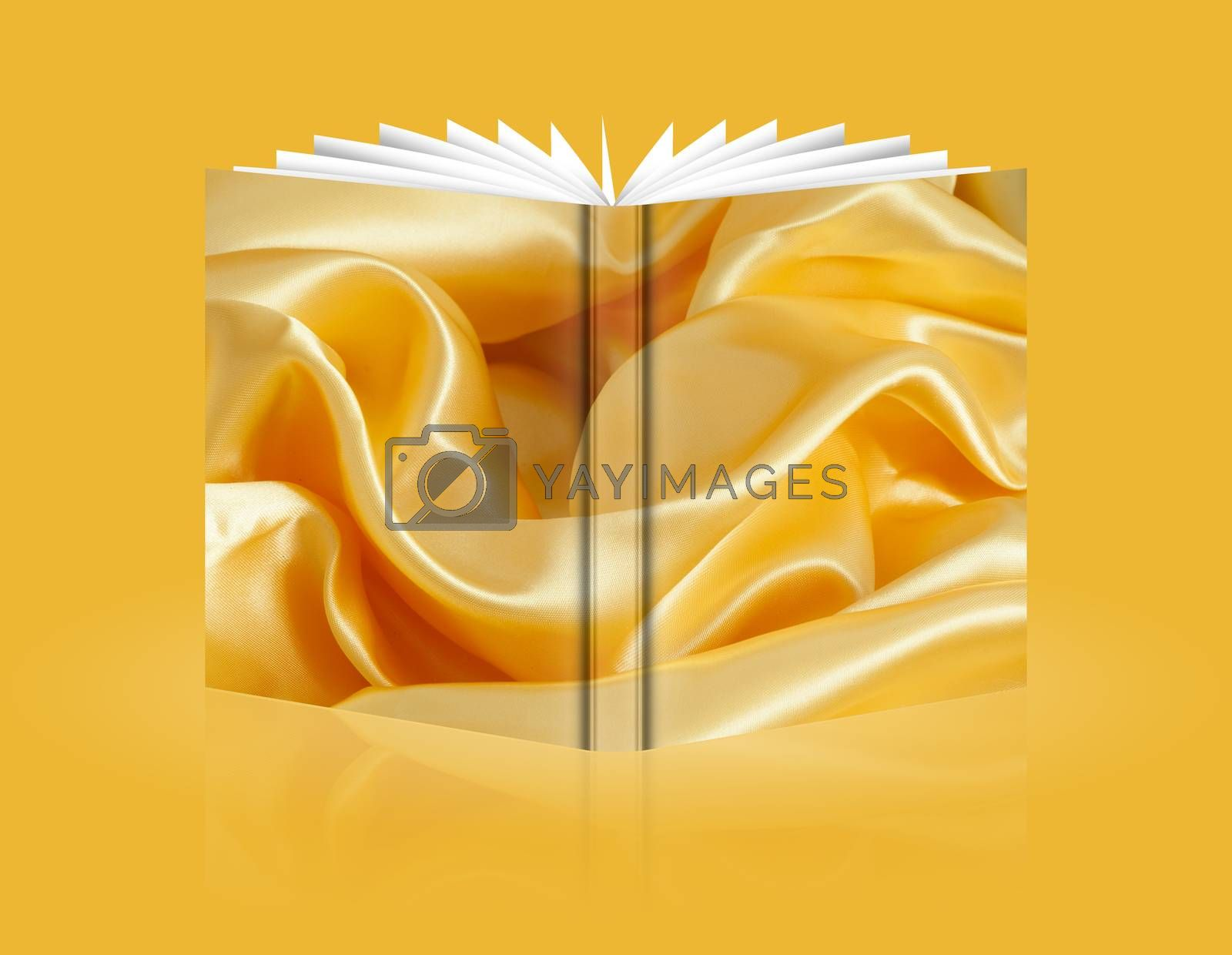 boof of elegant background with a colorful fabric