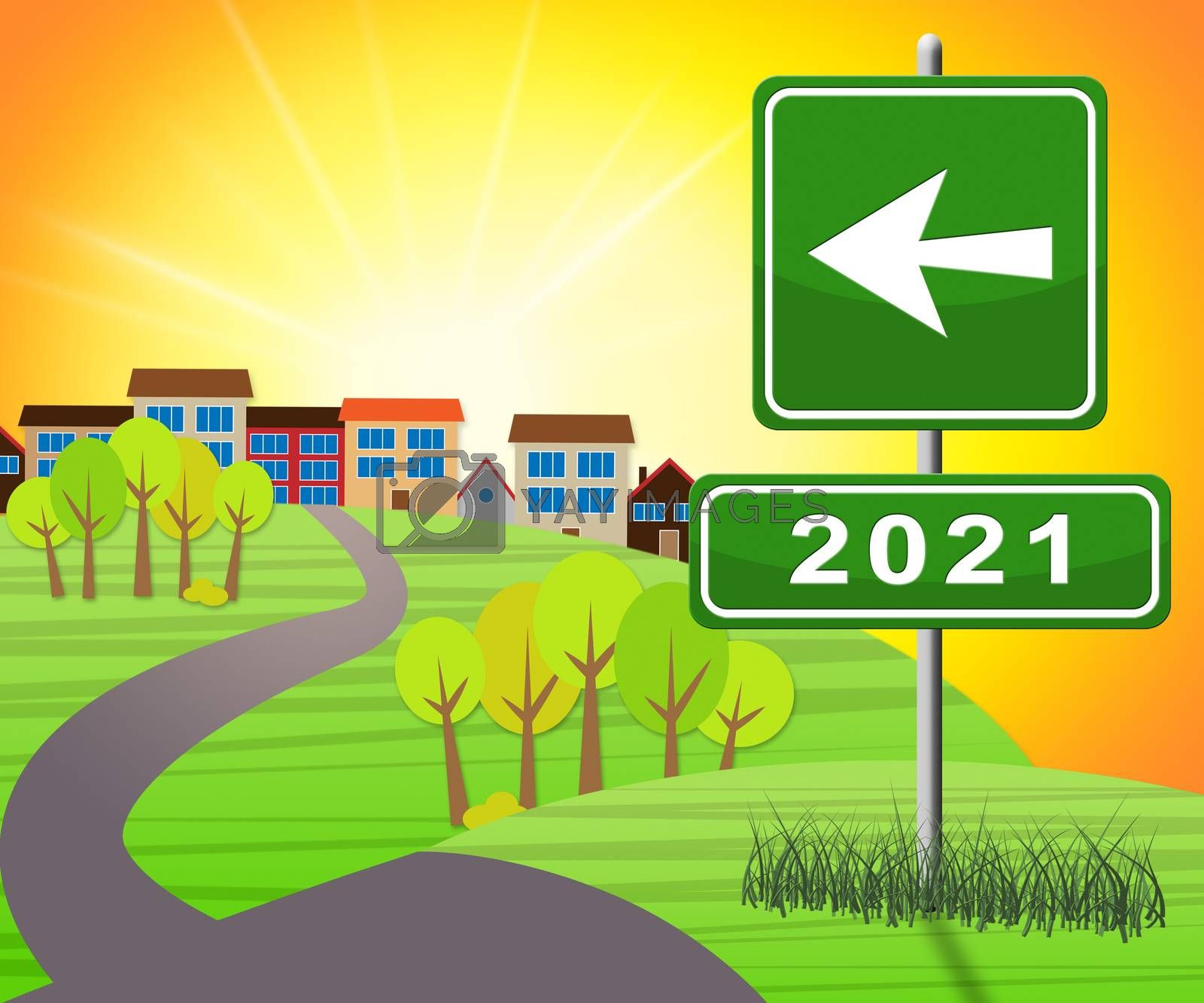Two Thousand Twenty One Or 2021 Year 3d Illustration