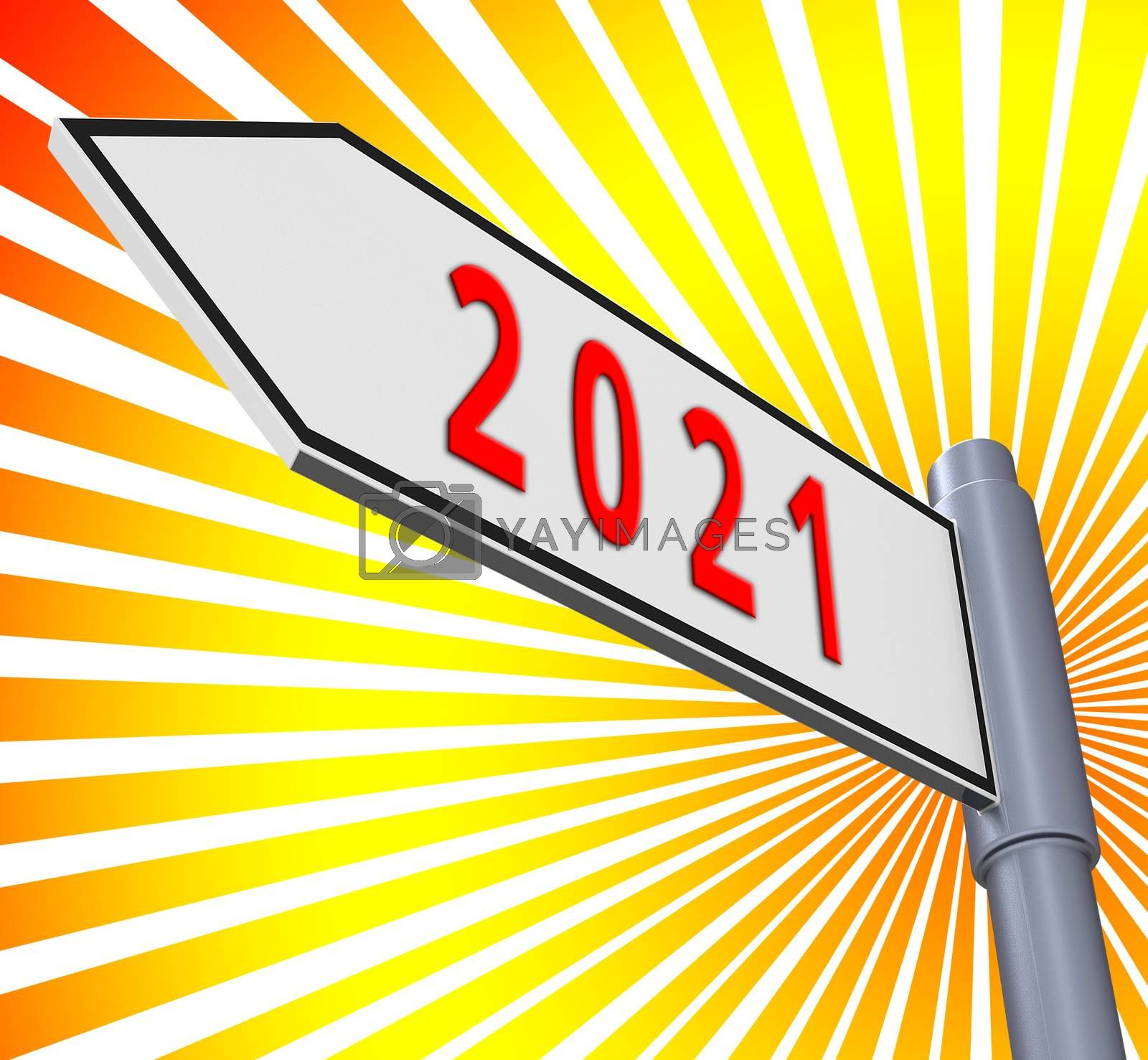 Two Thousand Twenty One And 2021 3d Illustration