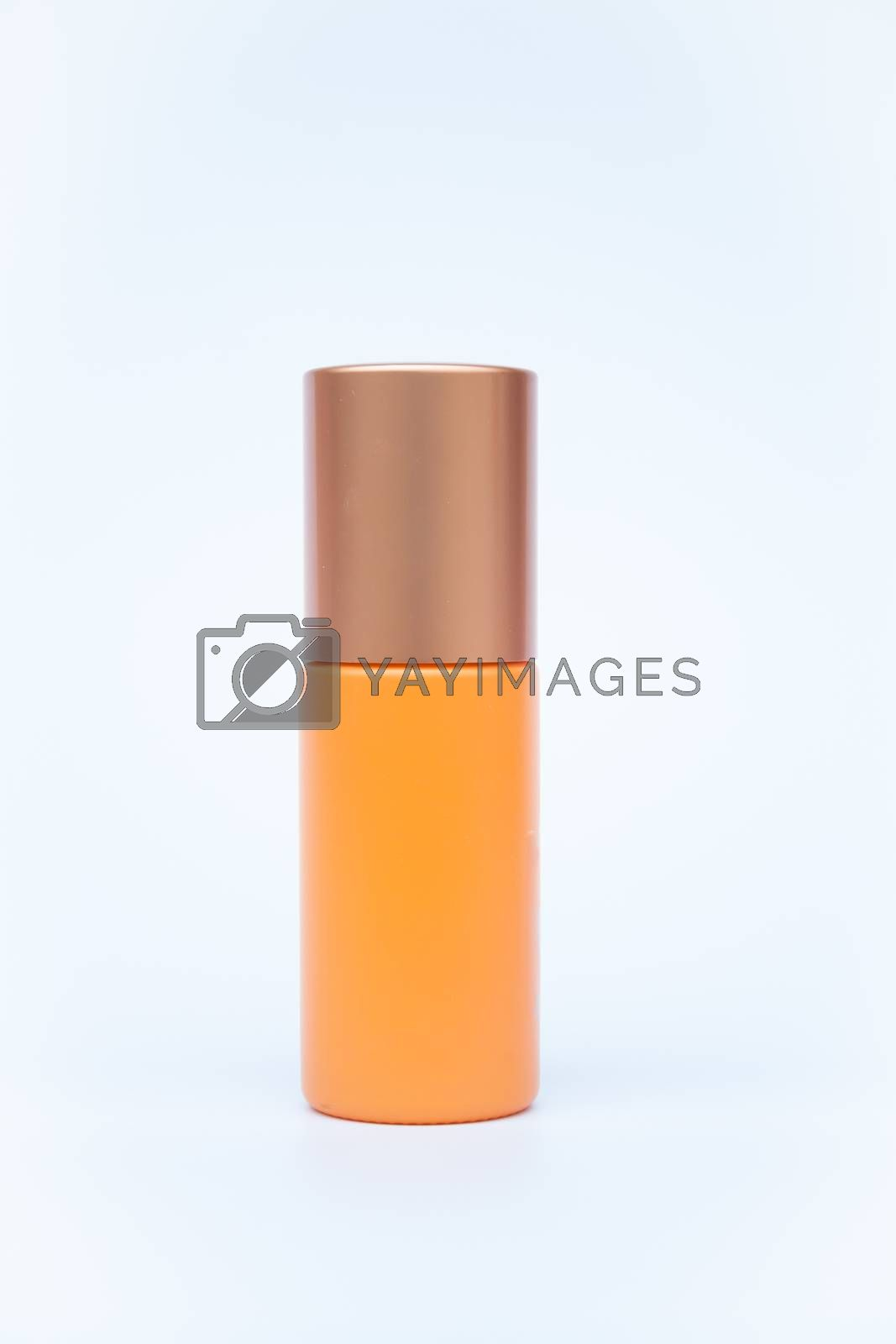 Cosmetic bottle isolated on white background by punsayaporn