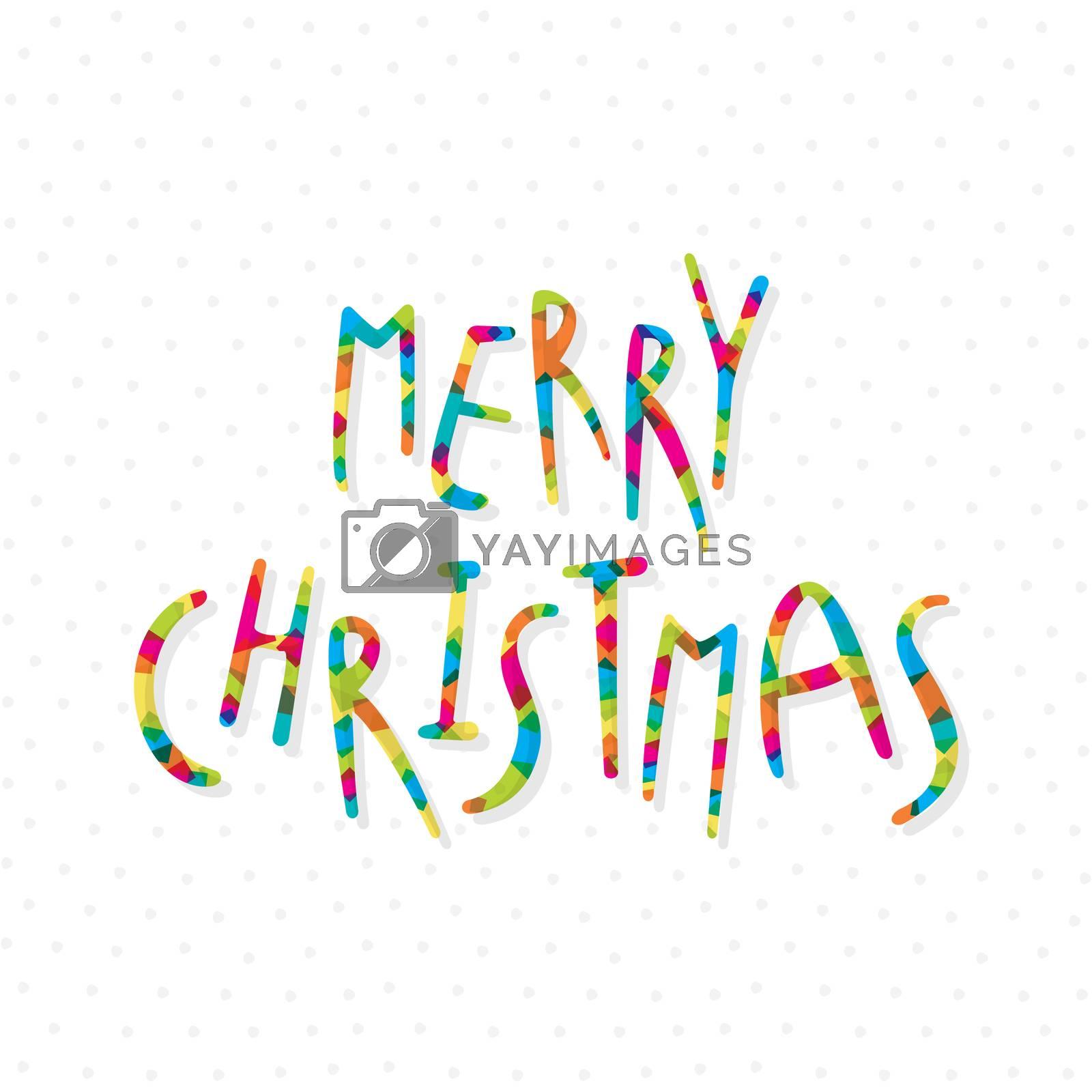 creative merry christmas festival greeting design vector
