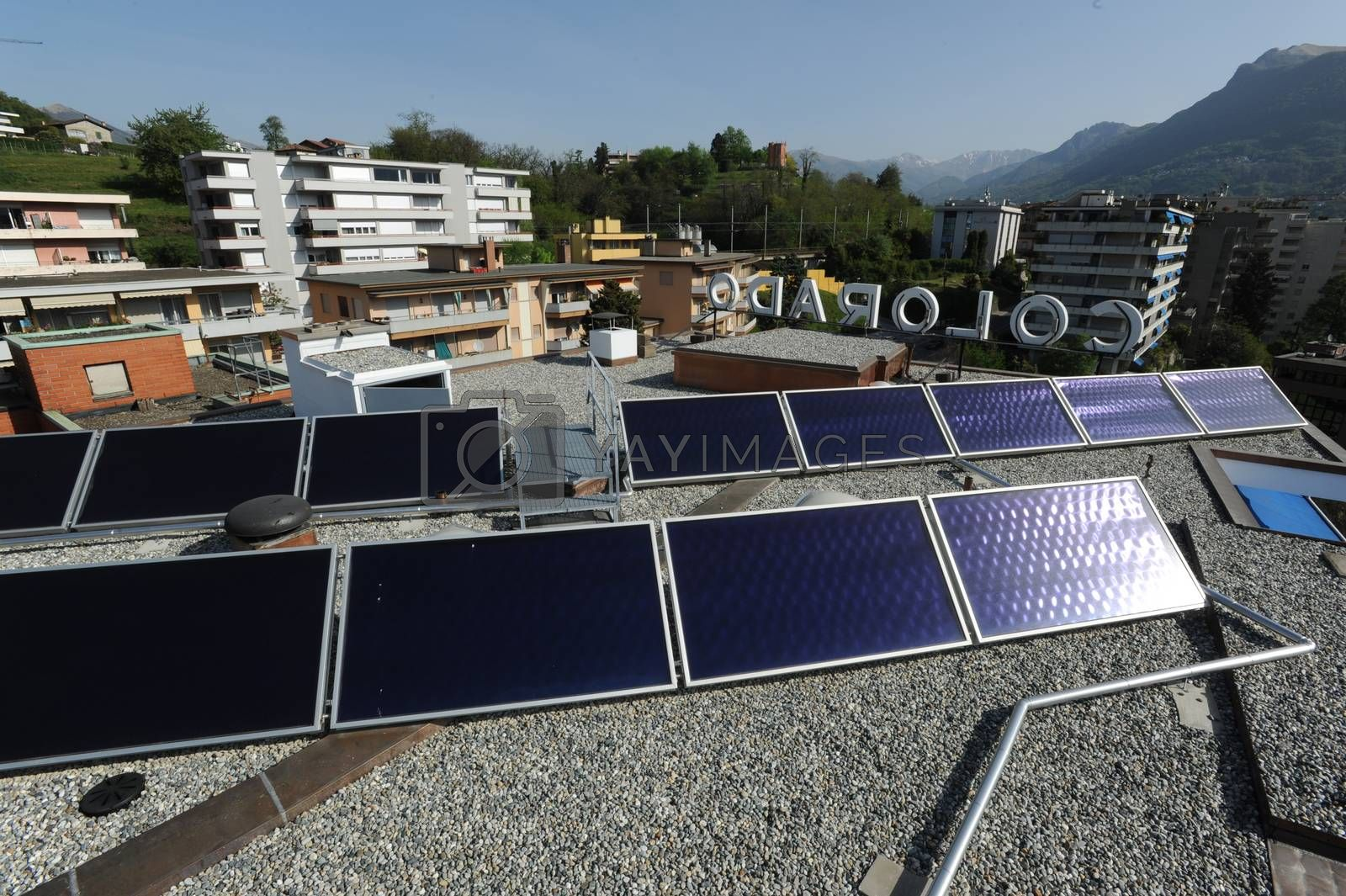 Solar panels technology for renewable energy