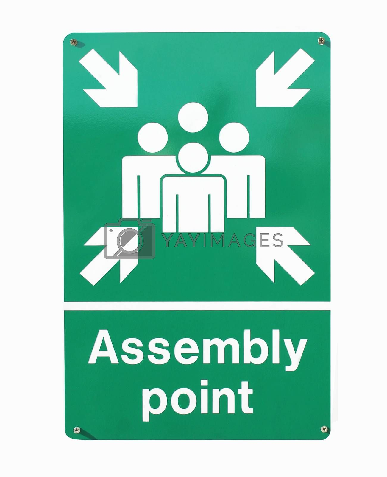 Royalty free image of Assembly point sign by speedfighter