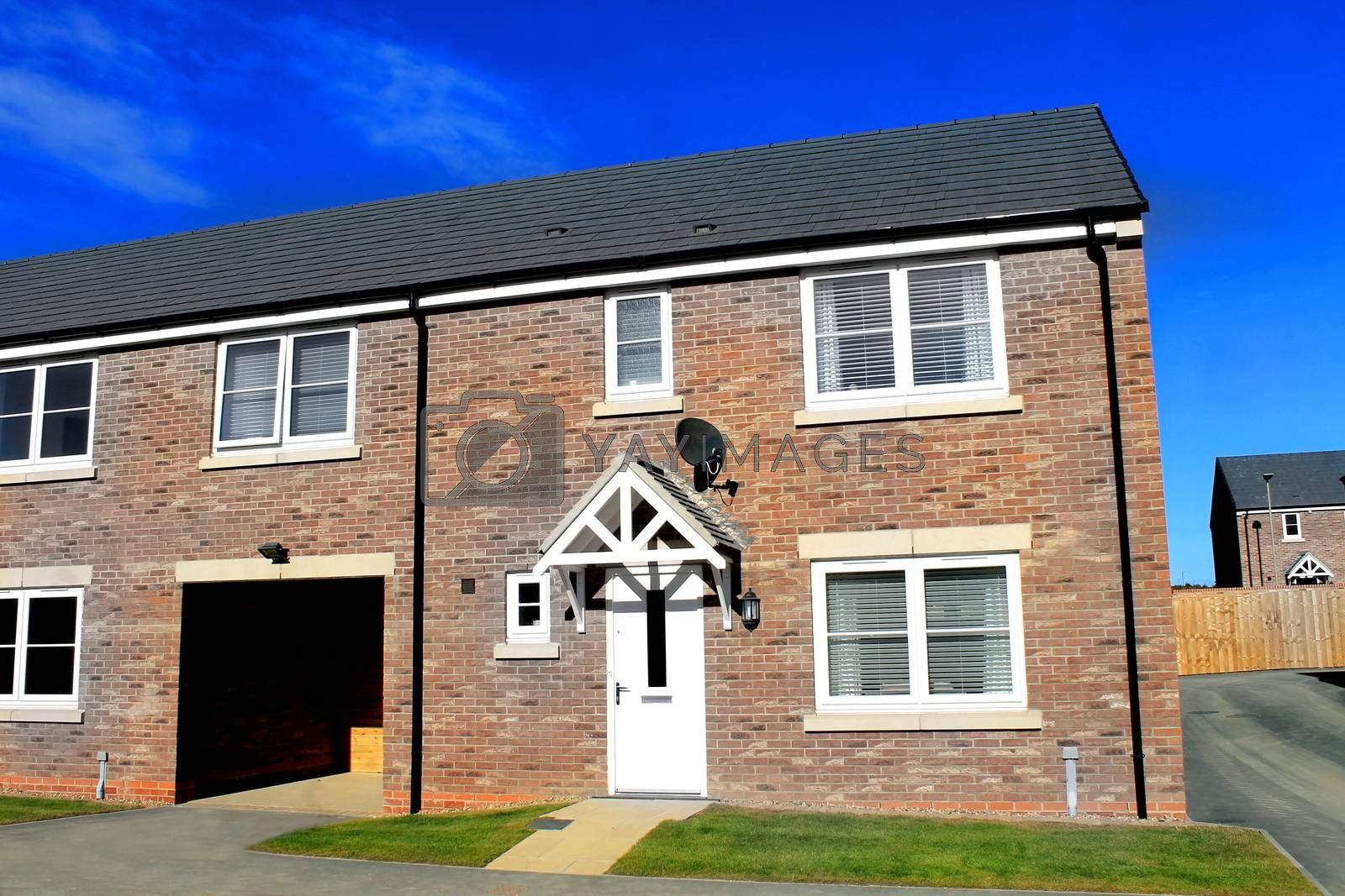 Royalty free image of Modern housing estate in England by speedfighter